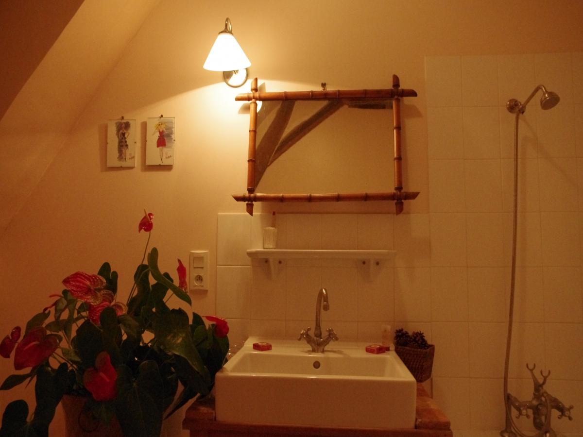Salle de bain de la chambre Foulques de Chatenay