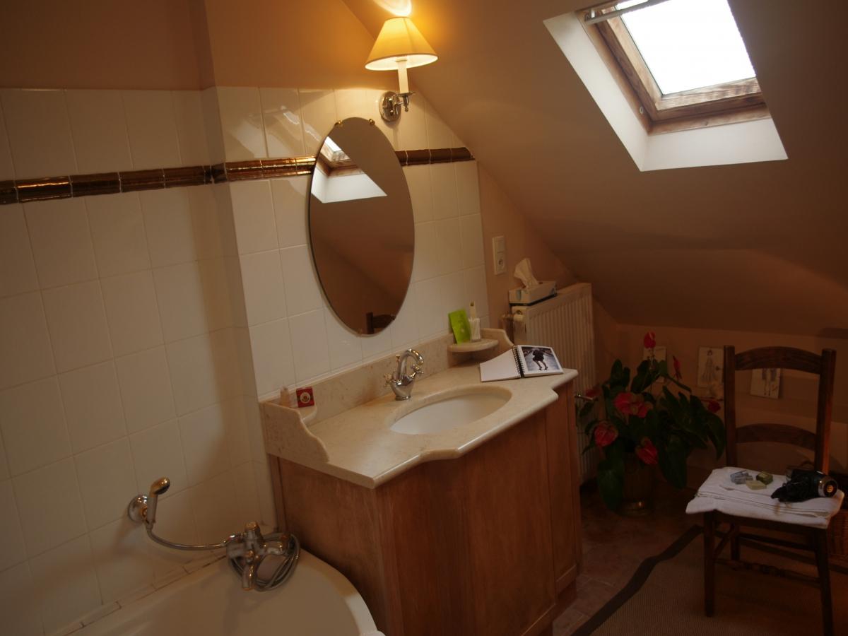 Salle de bain de la Chambre Amelon de Saint-Cher