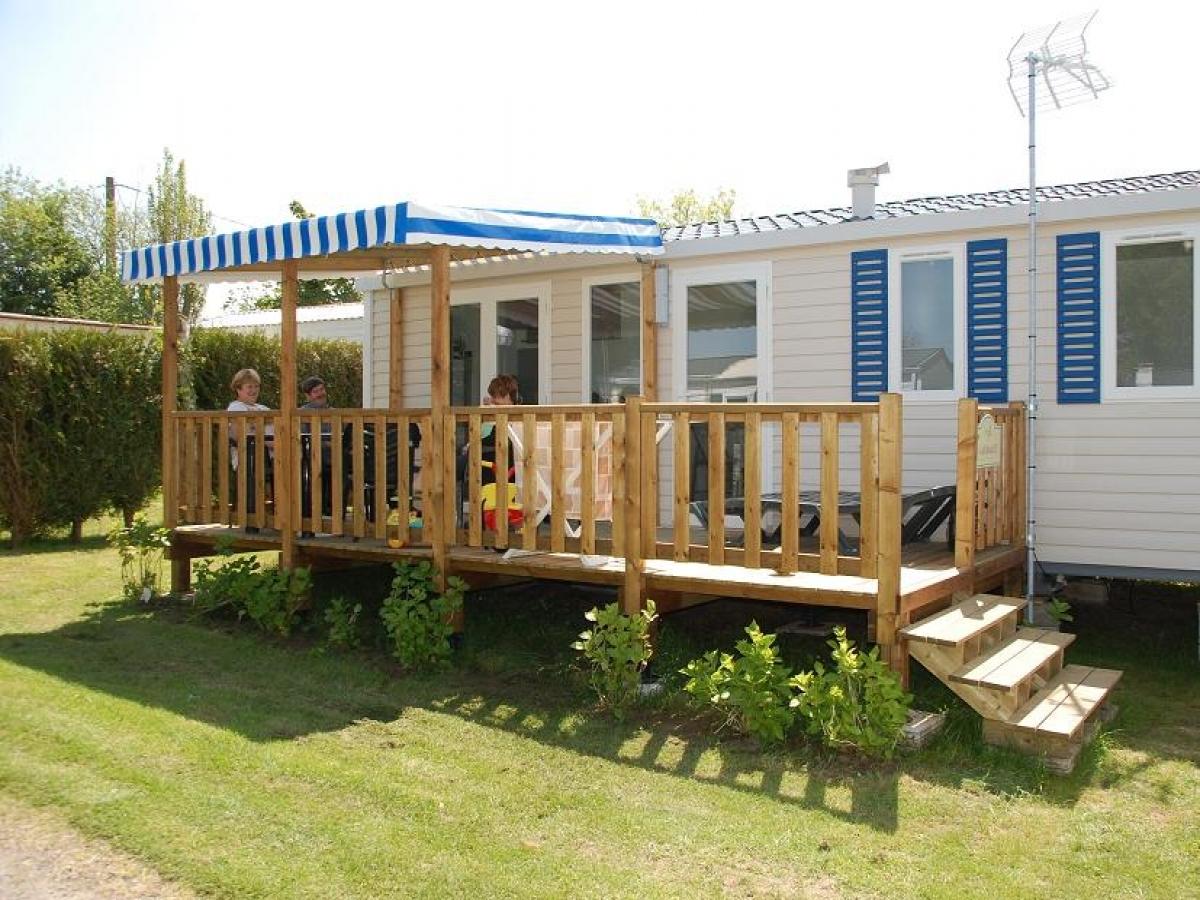 Mobil home six places - terrasse semi-couverte