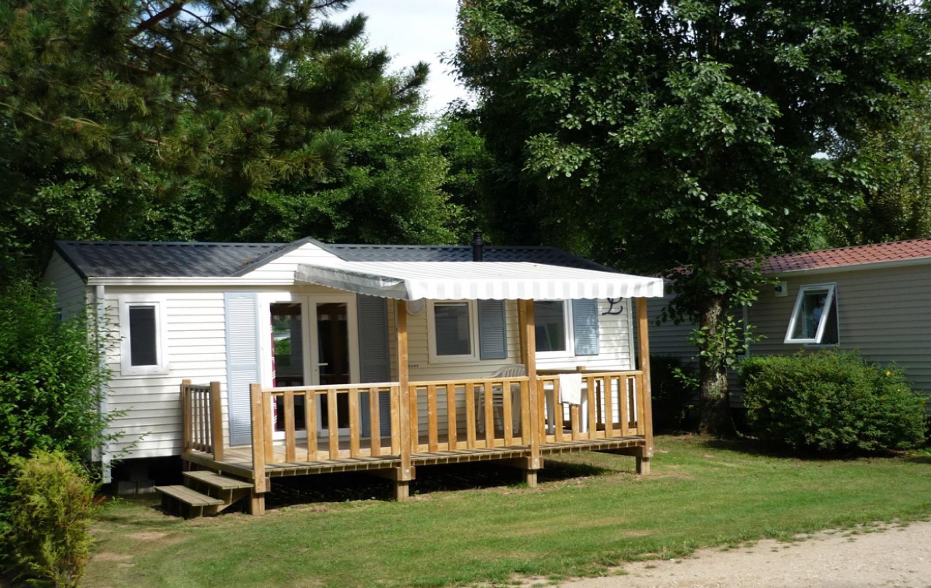 Mobil-Home 2 chambres - terrasse semi couverte