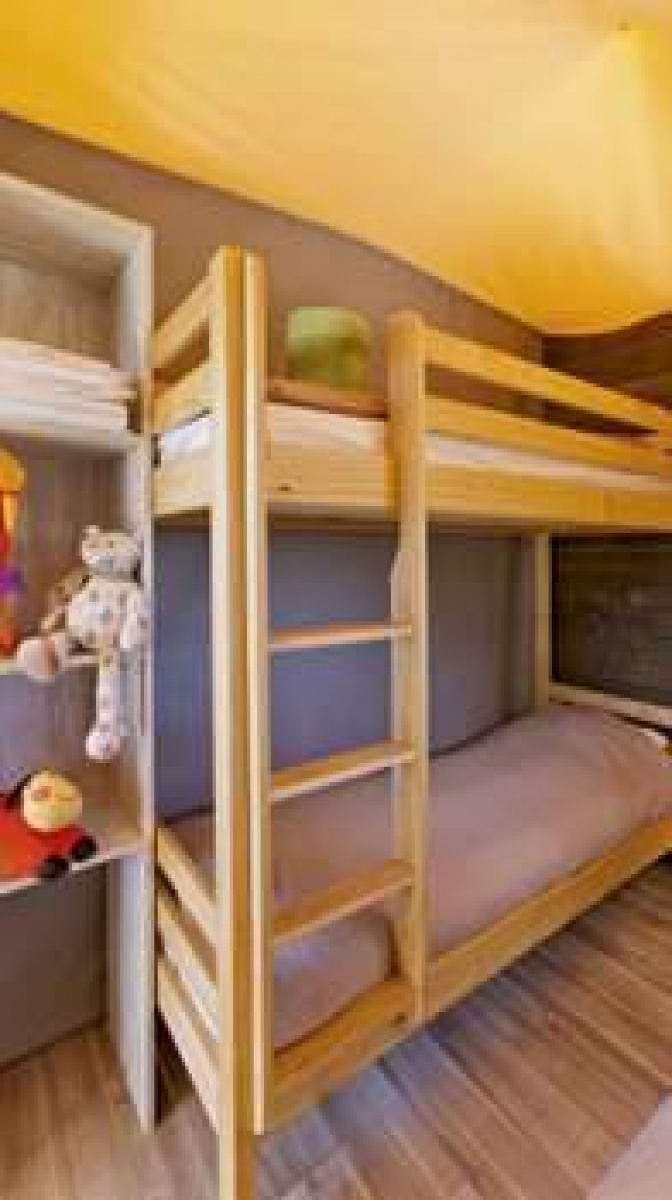 Chambre enfants cabane lodge Aventure