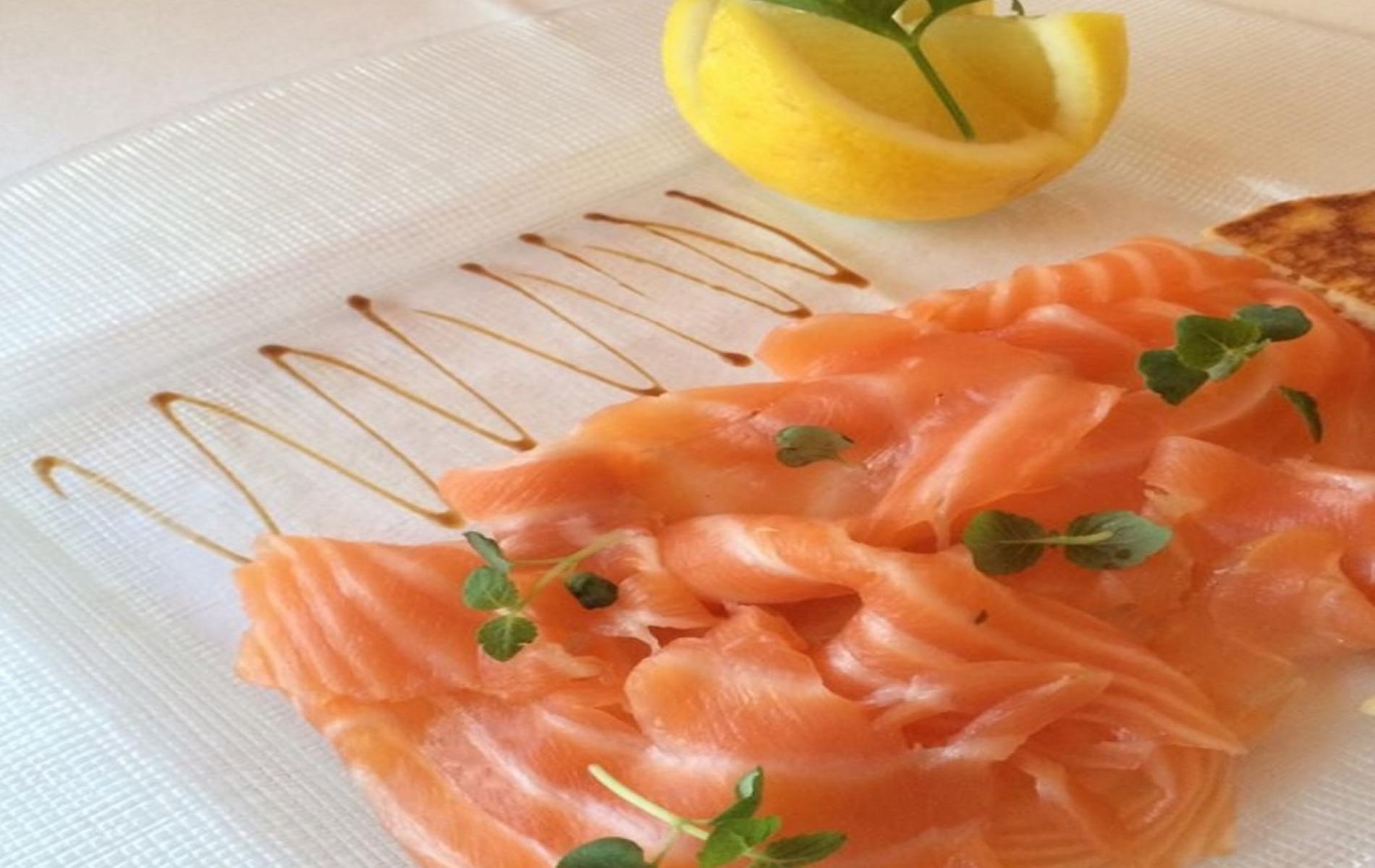 saumon blinis