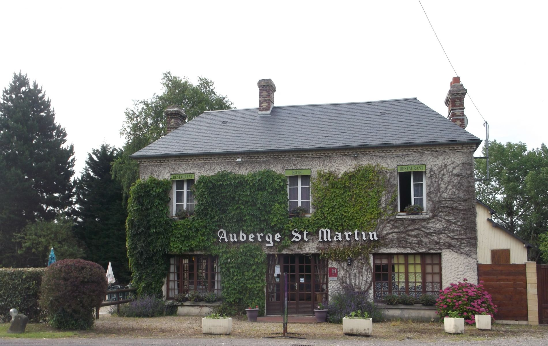 restaurant auberge saint martin pont l'eveque