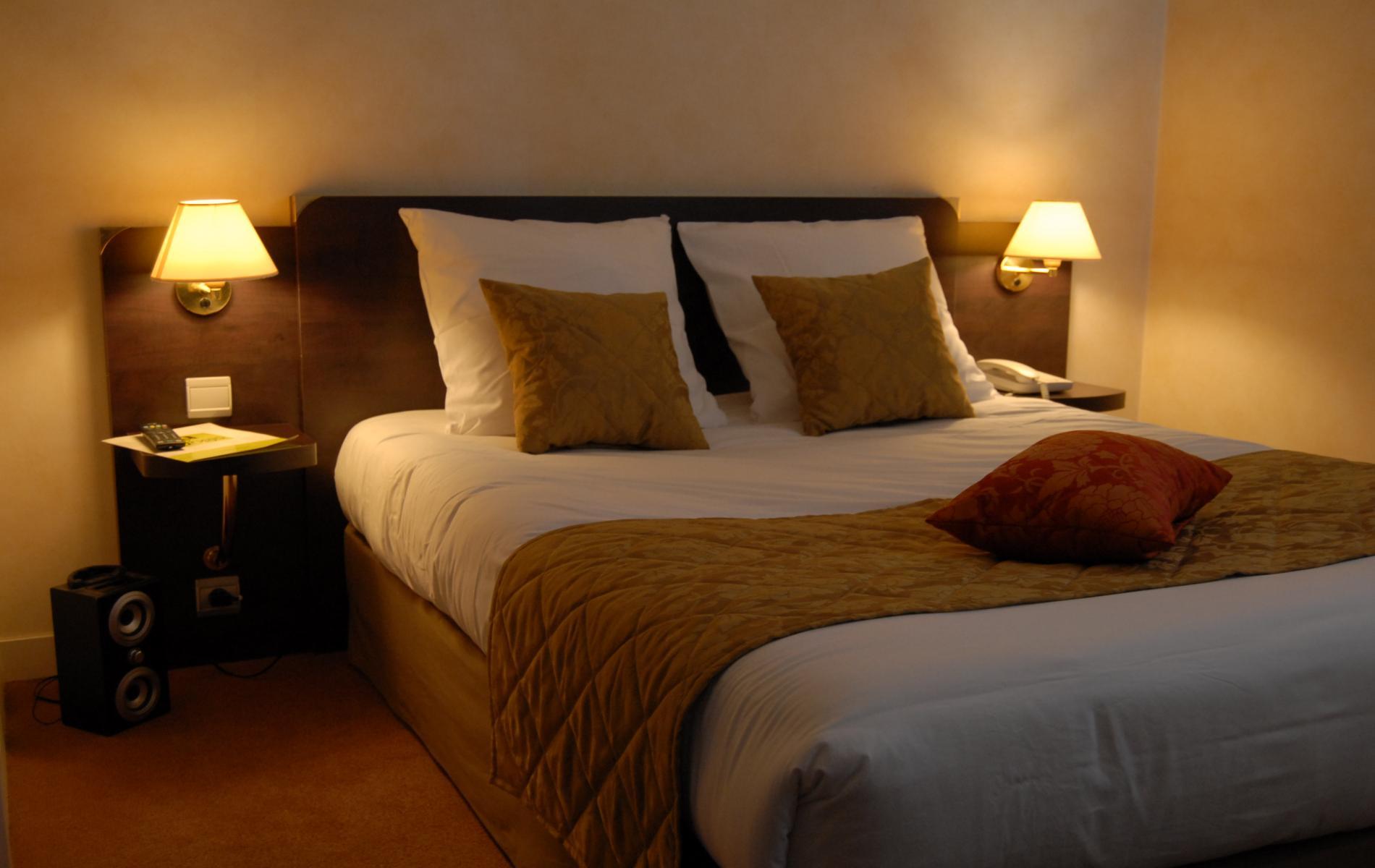 Les chambres standards de l'hôtel du Pélican
