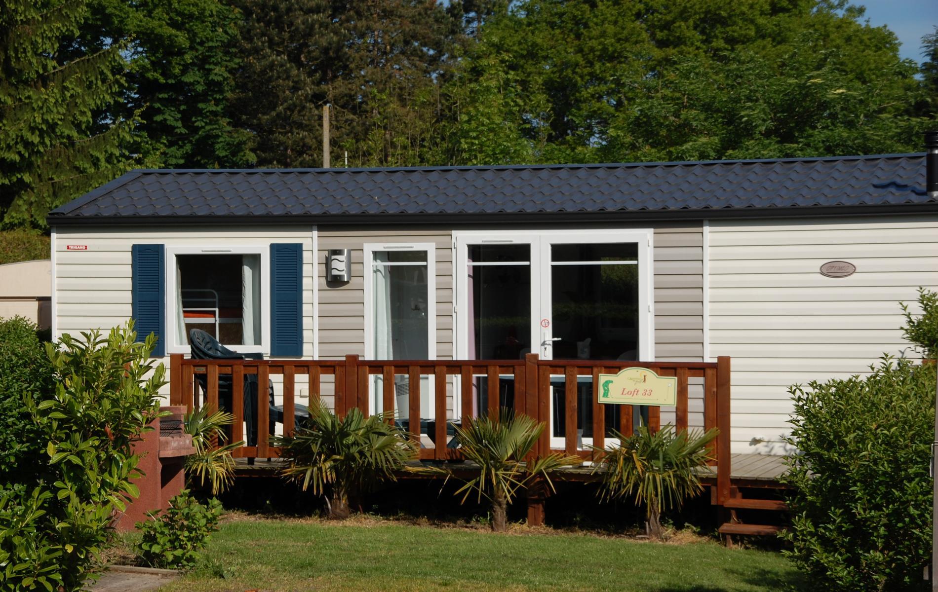 Le camping dispose d'un mobil-home PMR