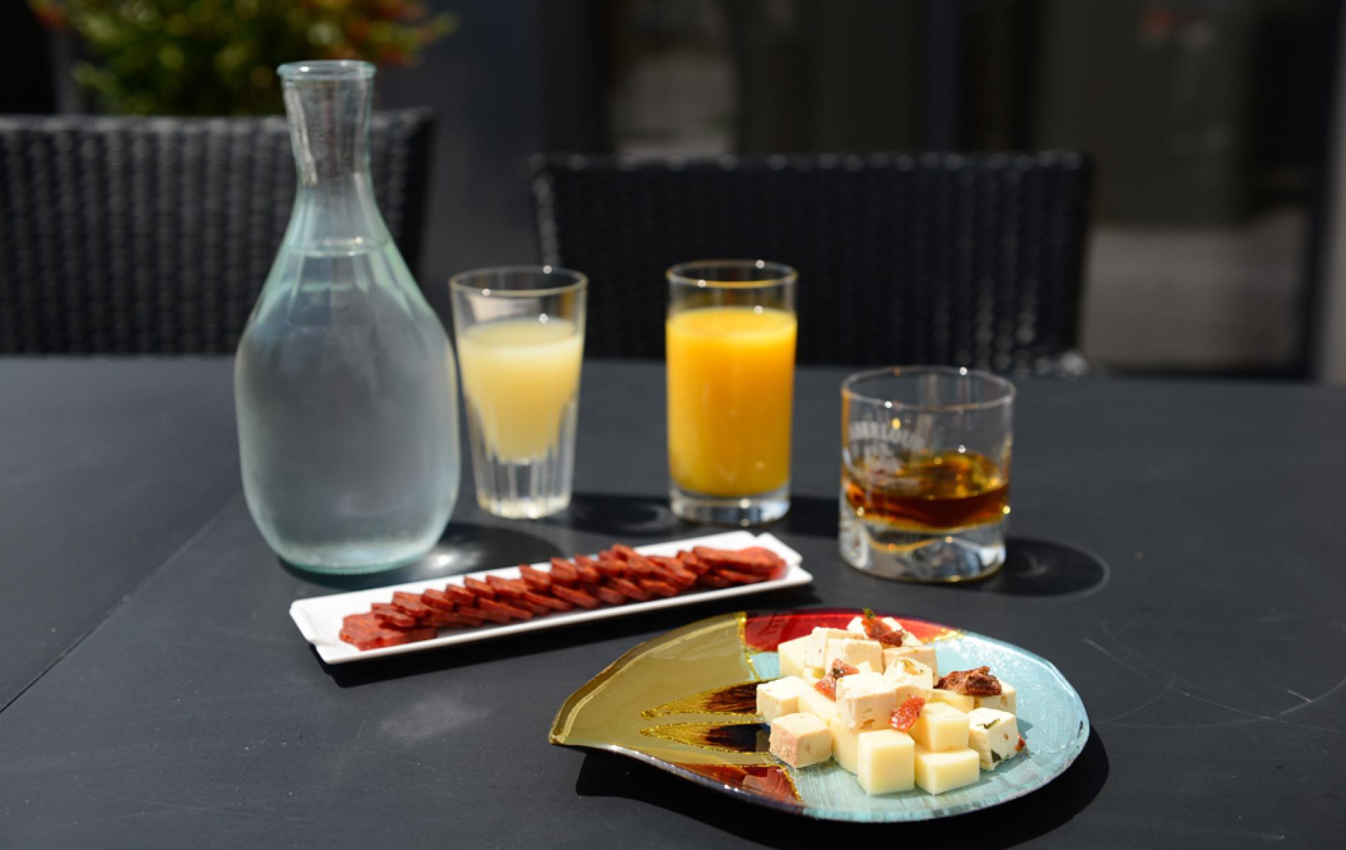 Service de boissons en Terrasse de l'Hôtel