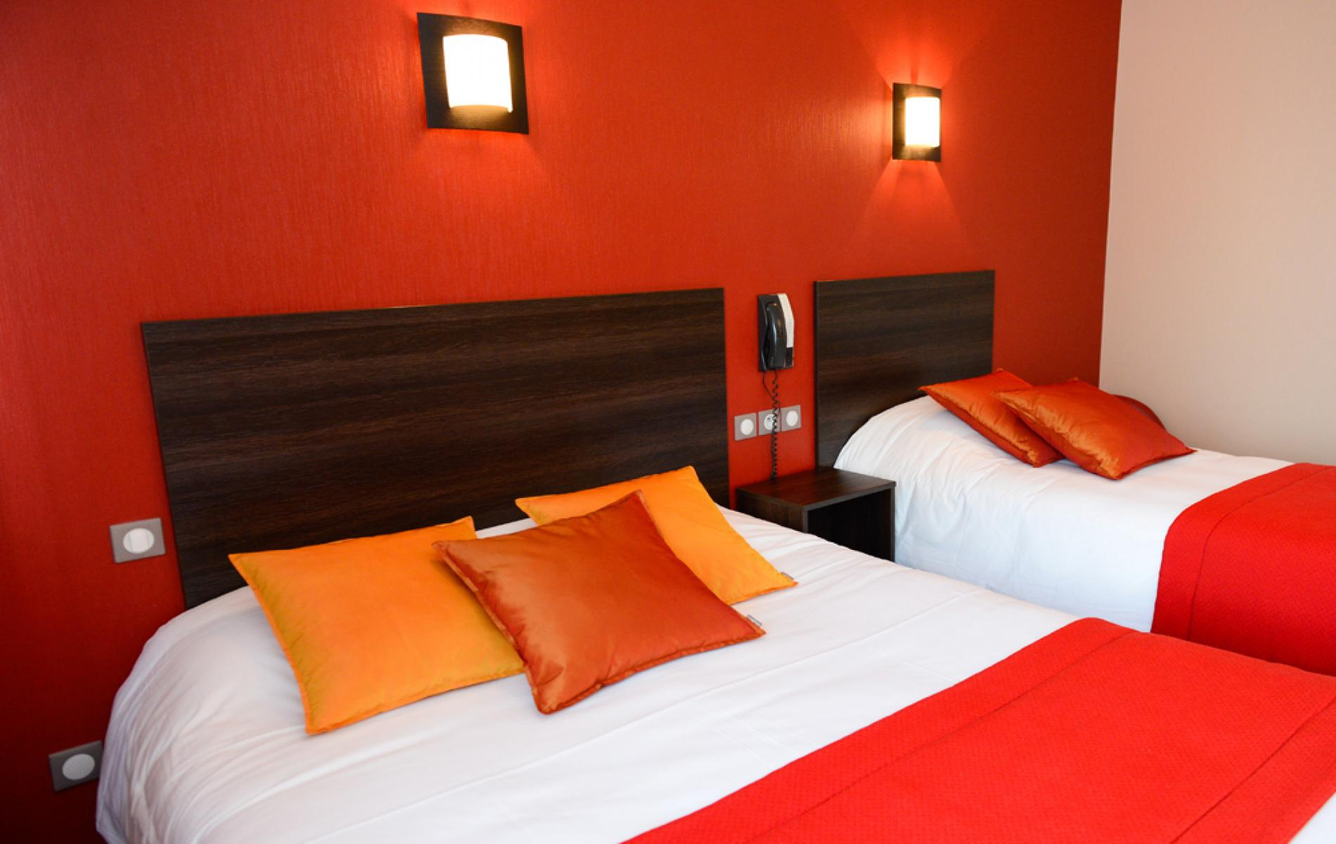 Chambre personalisée de l'hôtel des ducs