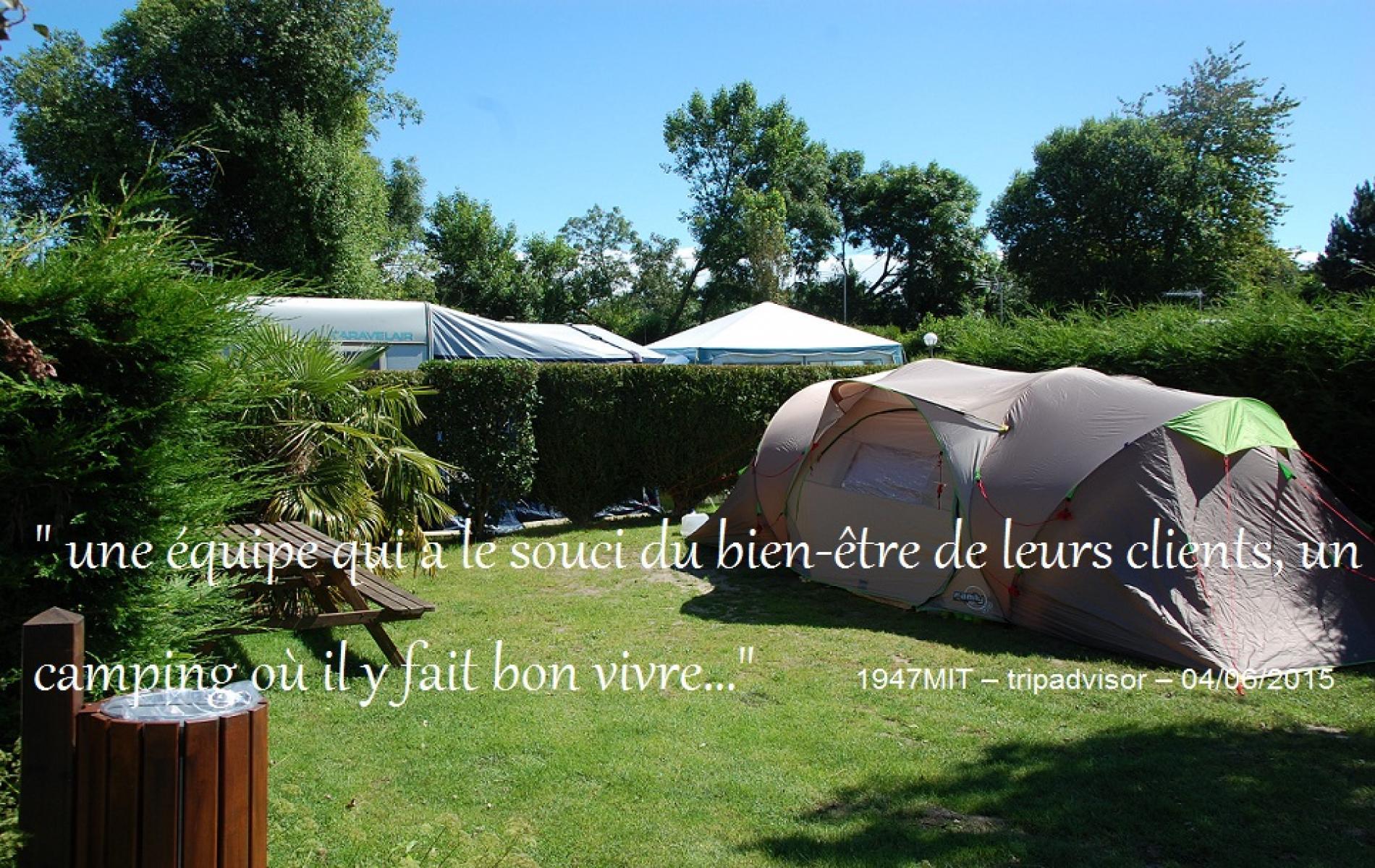Des parcelles reservées aux vacanciers en tente ou en caravane