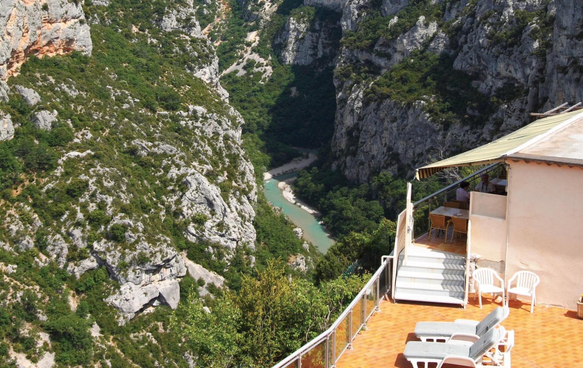 View Of The Verdon From Terrace Hotel And Restaurant