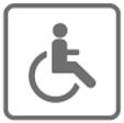 l'hôtel est de plein pied accessible aux personnes à mobilité réduite