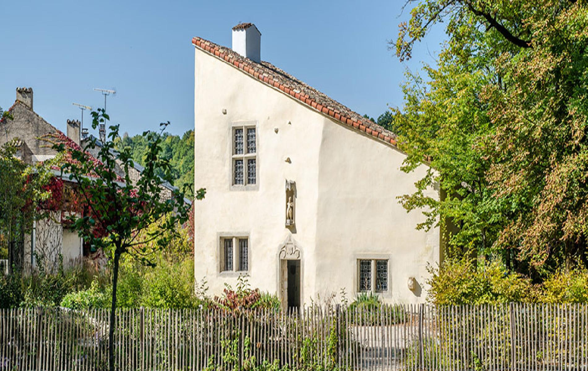 The house where Jeanne d'Arc was born in Domrémy la Pucelle and the basilica of Bois-Chenu