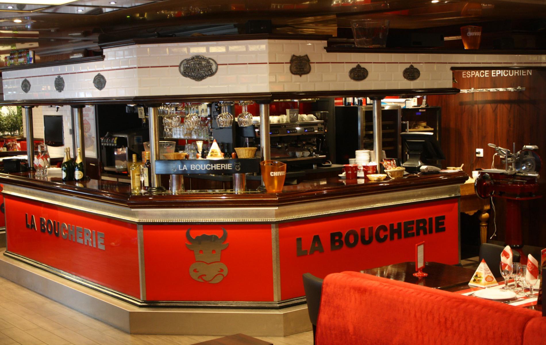 Comptoir bar - La Boucherie à Caen