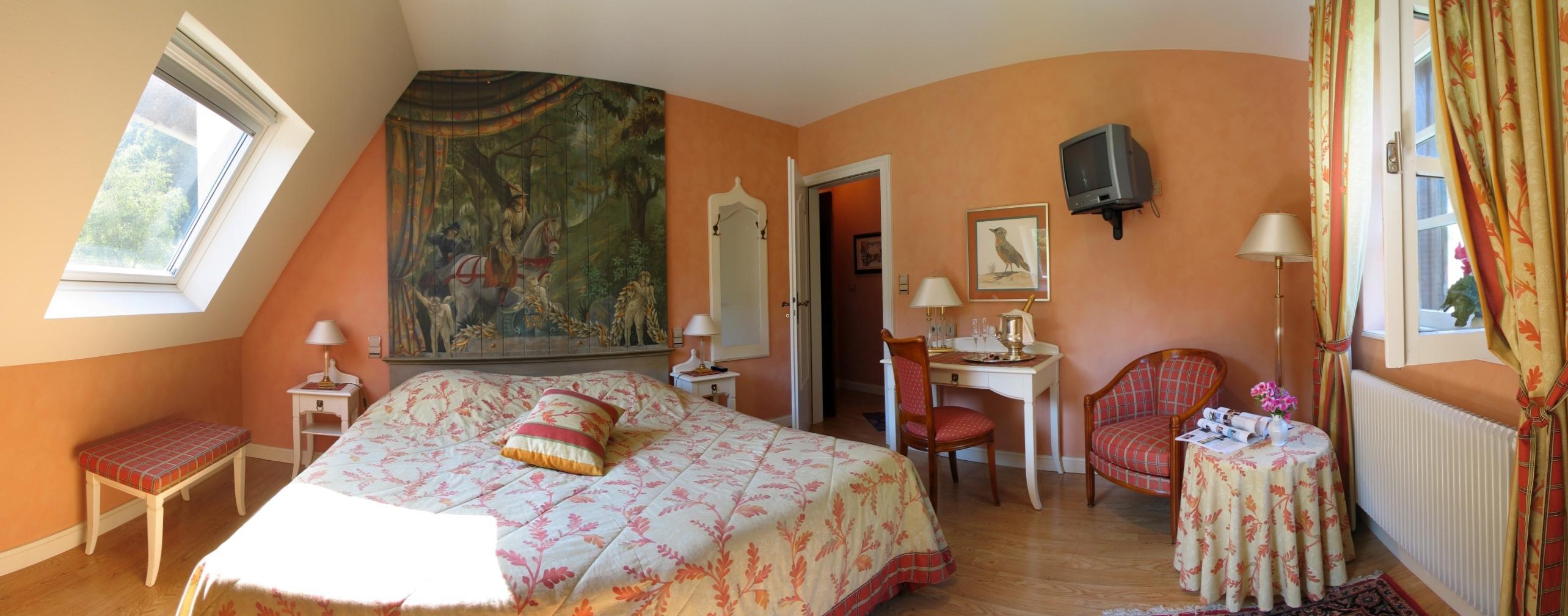 Chambre calme dans la villa du jardin