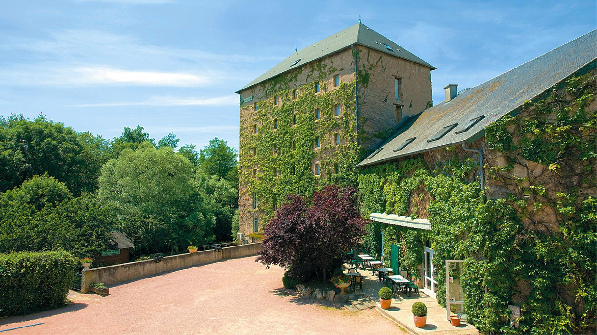 The Auberge Du Moulin Marin is housed in a former 19th century mill