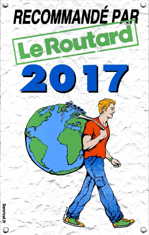 Recommandé par le guide du routard 2017