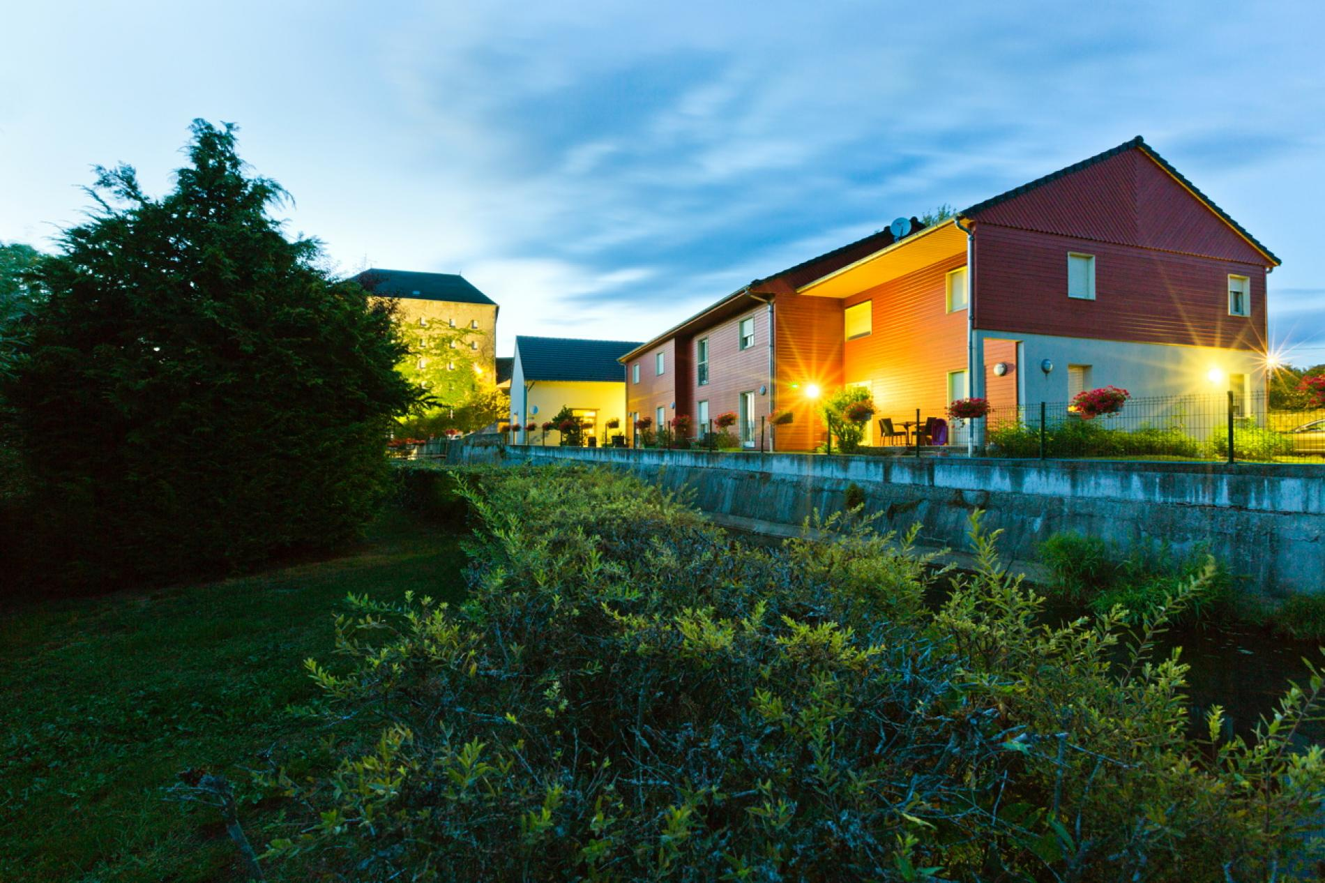 Logis hotel on the banks of the Besbre, Lapalisse, Auvergne.
