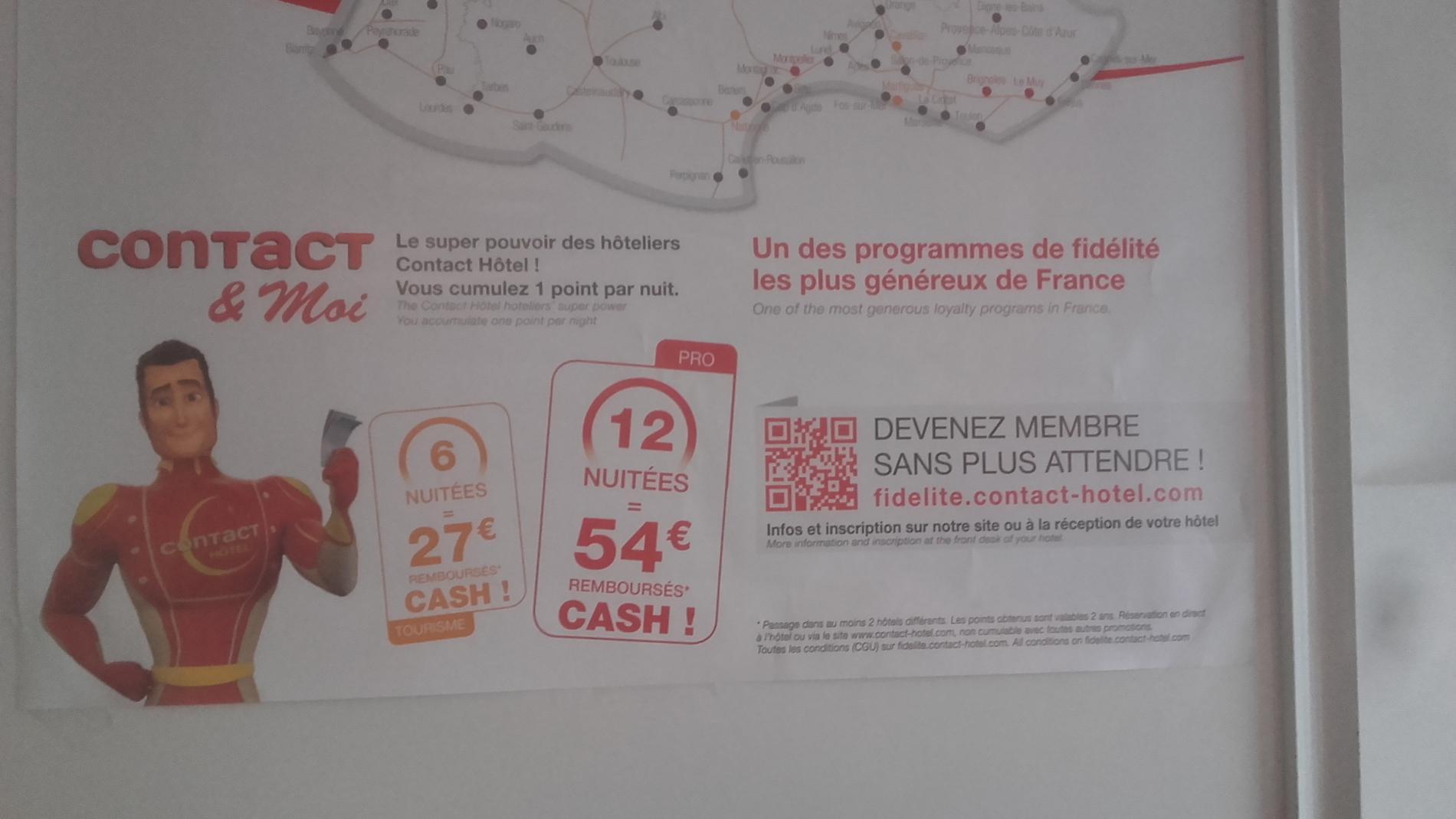 Notre programme de Fidélité Contact Hotel, le plus généreux de France
