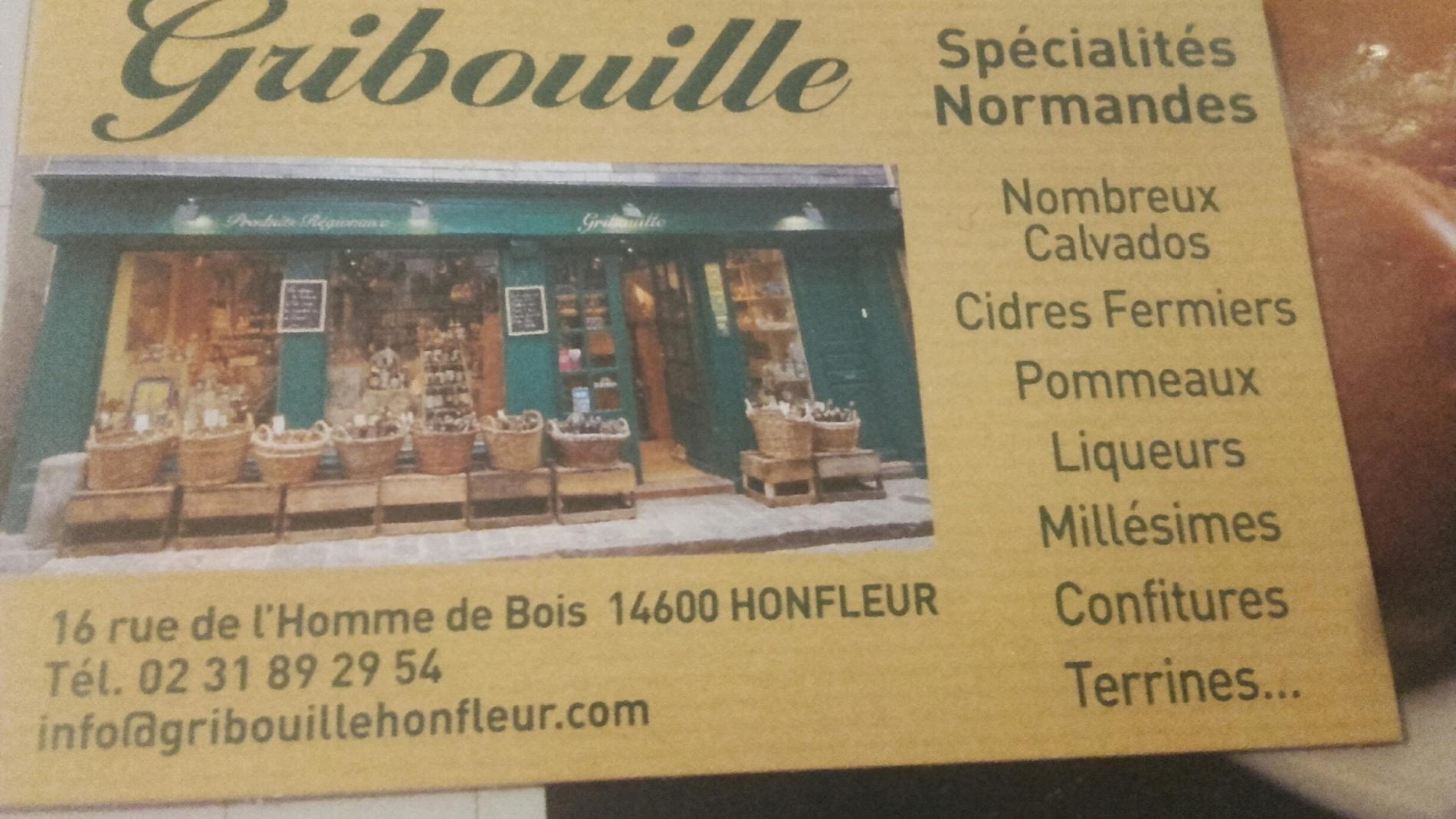Produits régionaux GRIBOUILLE Honfleur