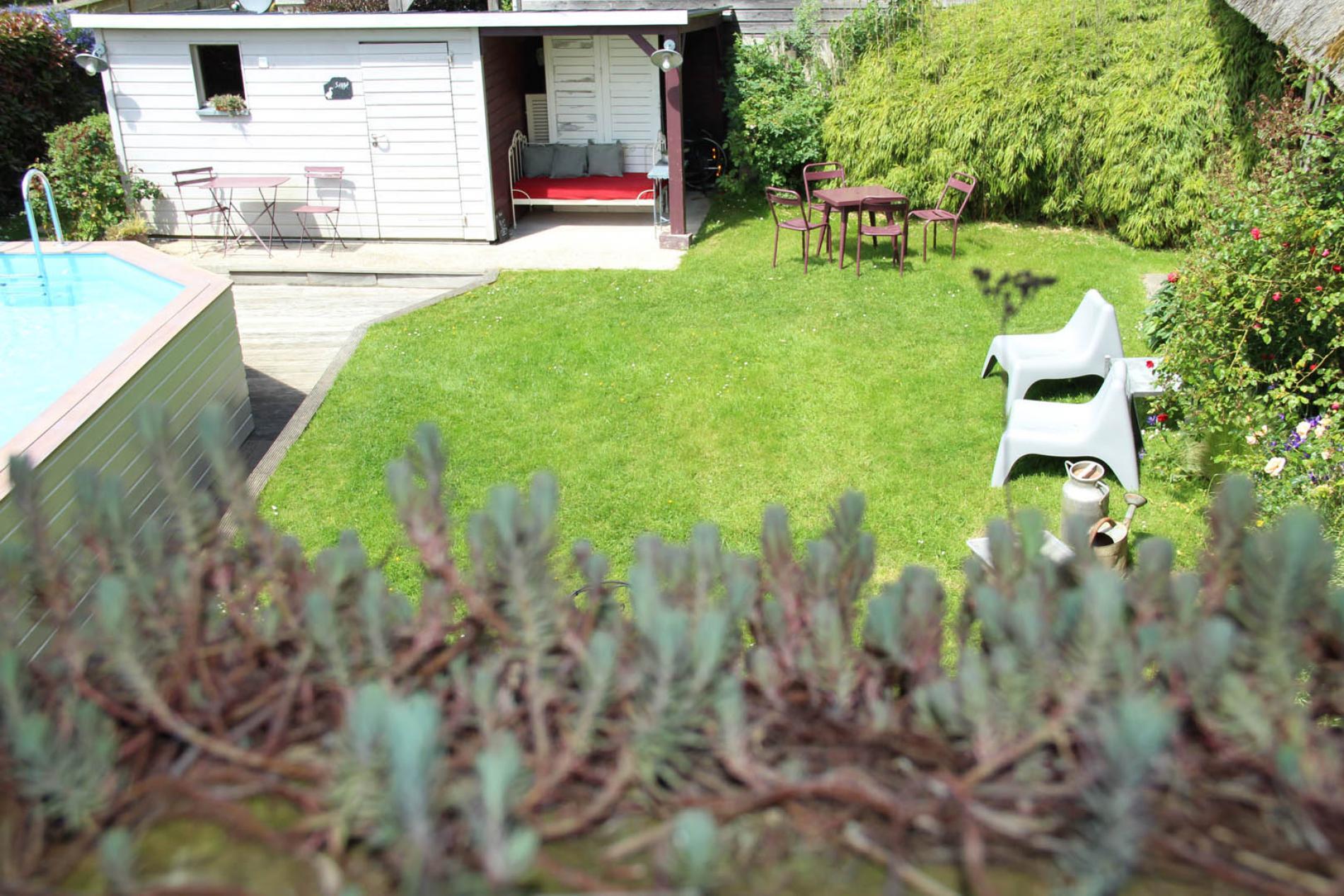 Sauna et jardin