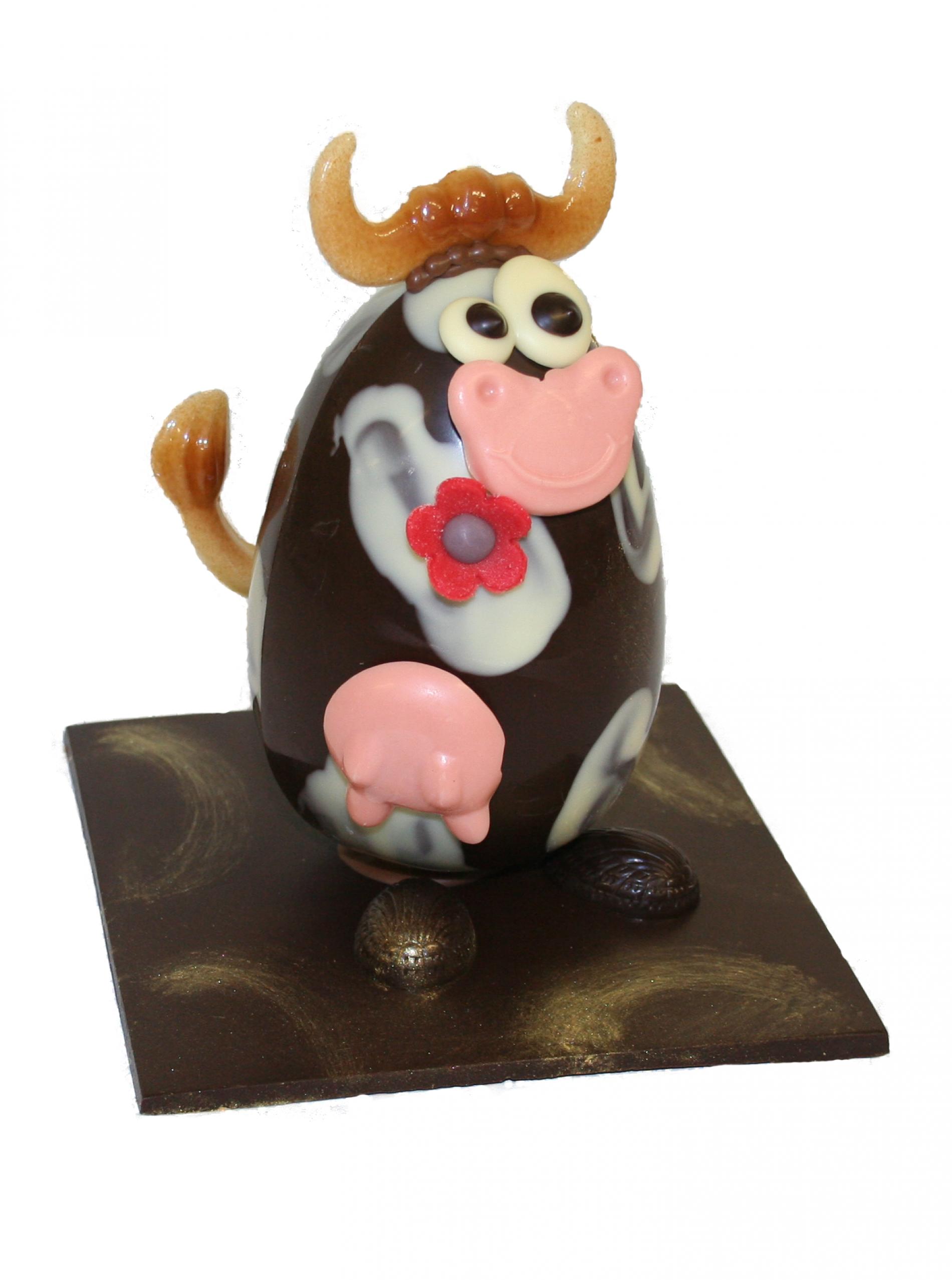 Une petite vache en chocolat qui nous rappelle notre campagne normande