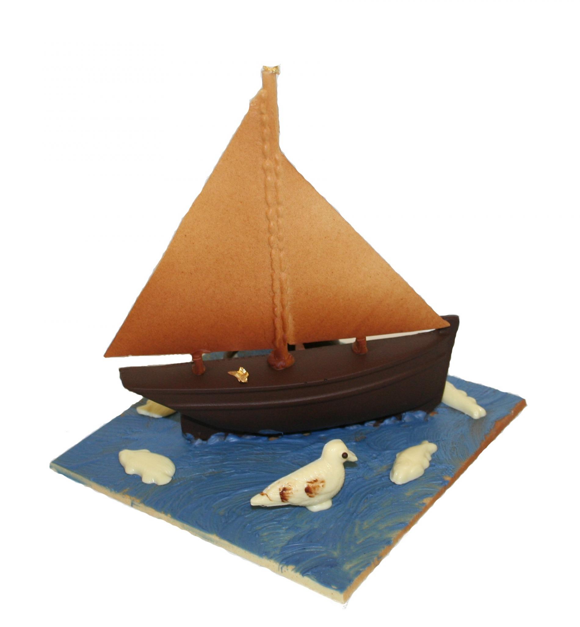 Un voilier tout en chocolat !