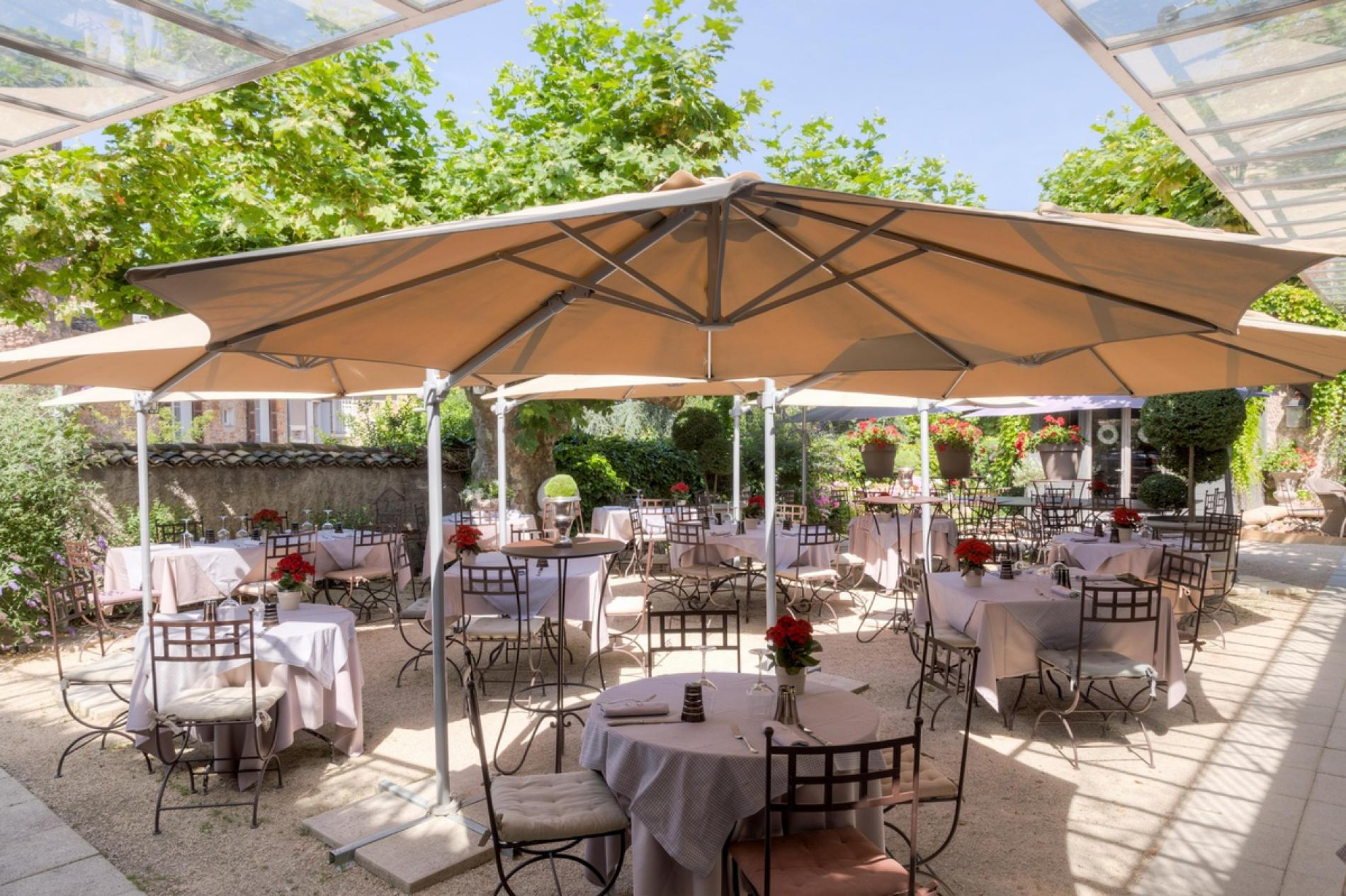 Logis h tel restaurant charme business lyon for Terrasse lyon