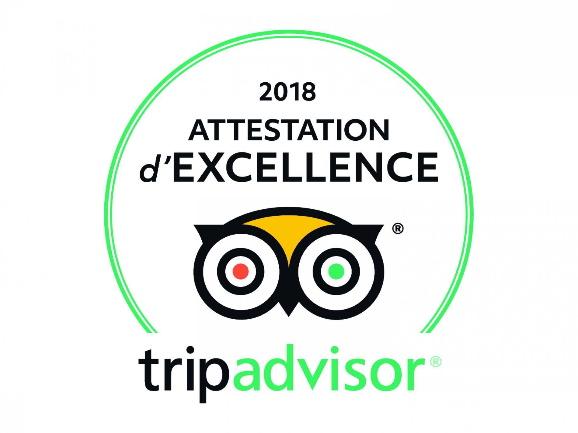 Certificat Exellence TripAdvisor