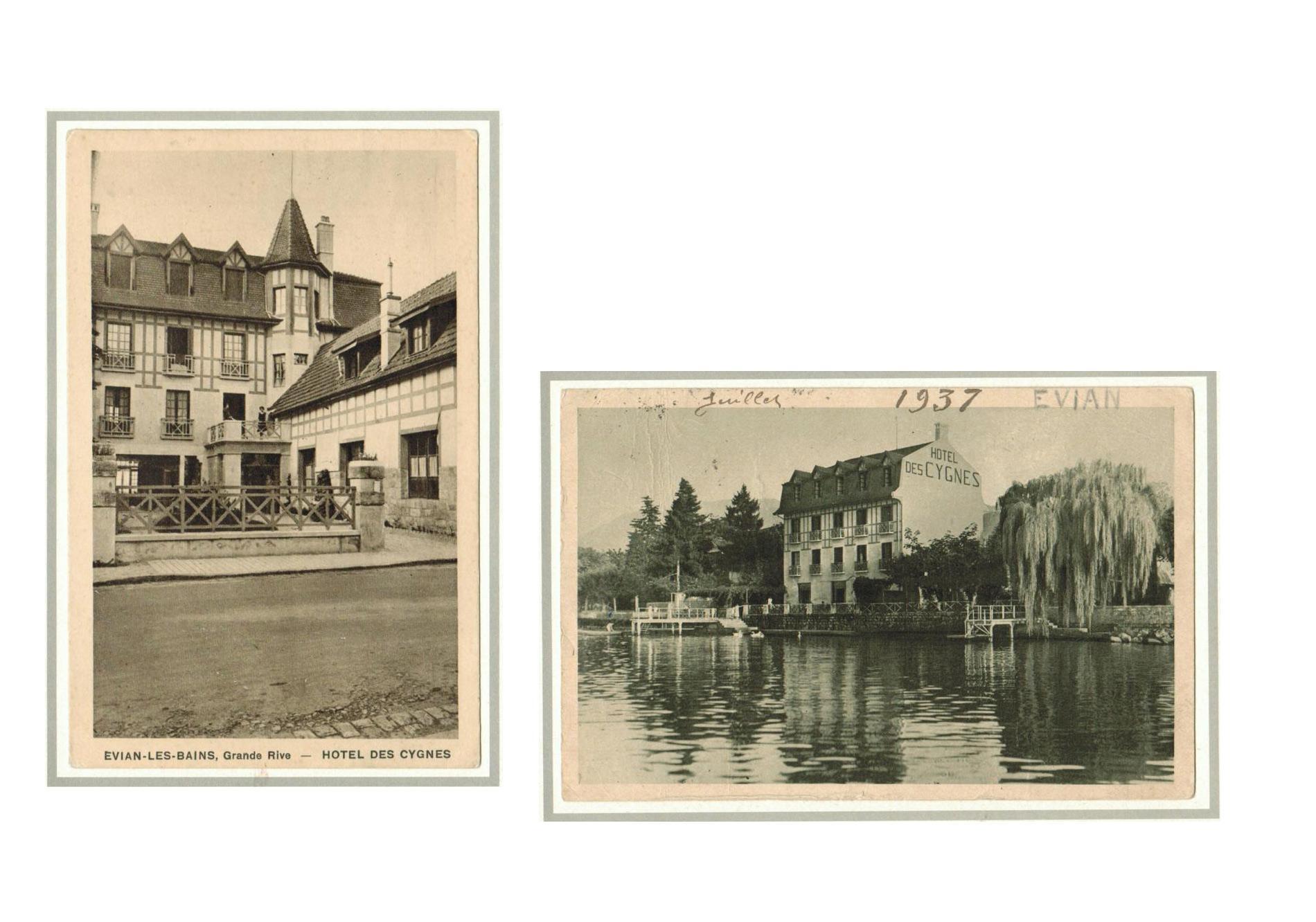L'histoire de l'hôtel les Cygnes à Evian