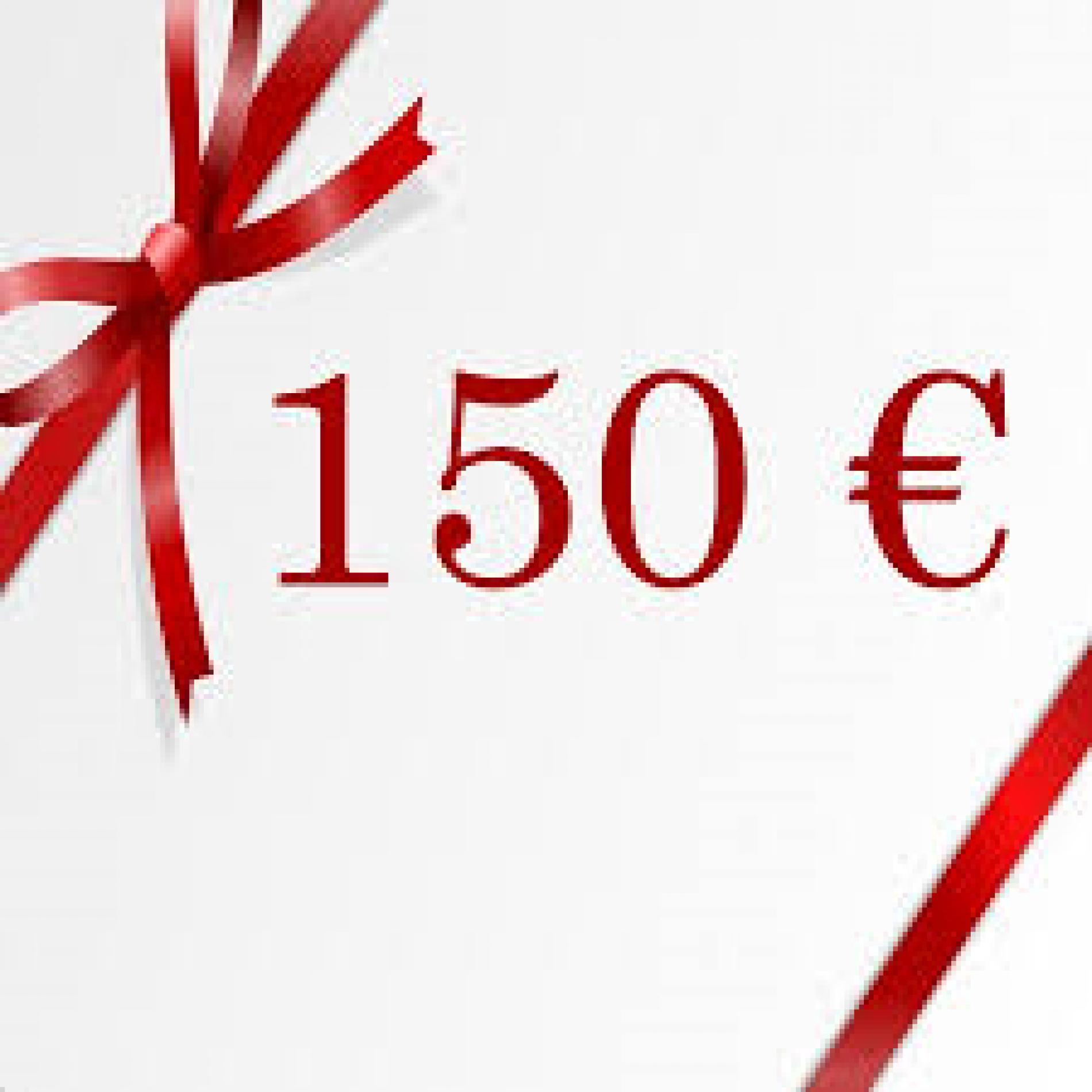 Chèque cadeau de 150€