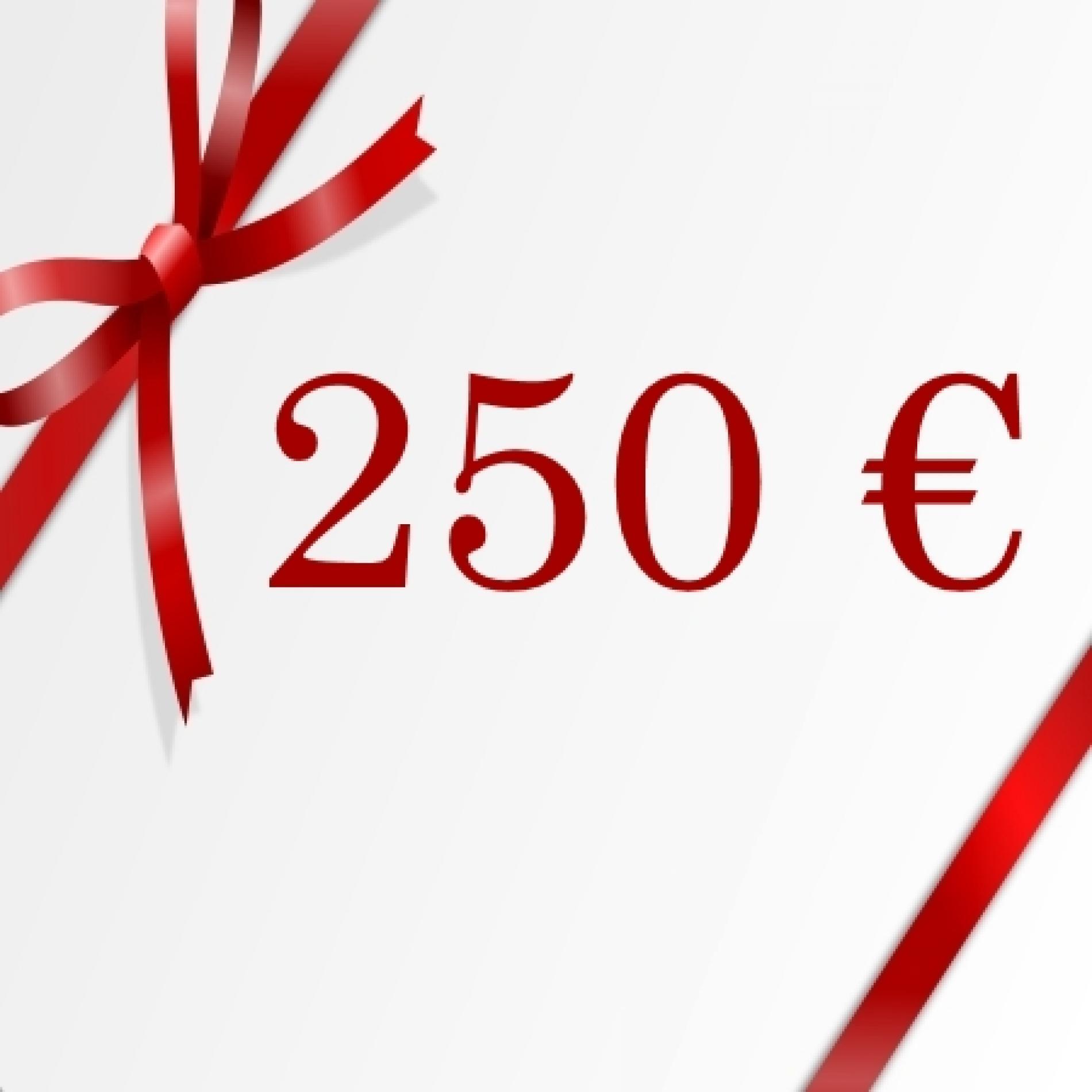 Chèque cadeau de 250€