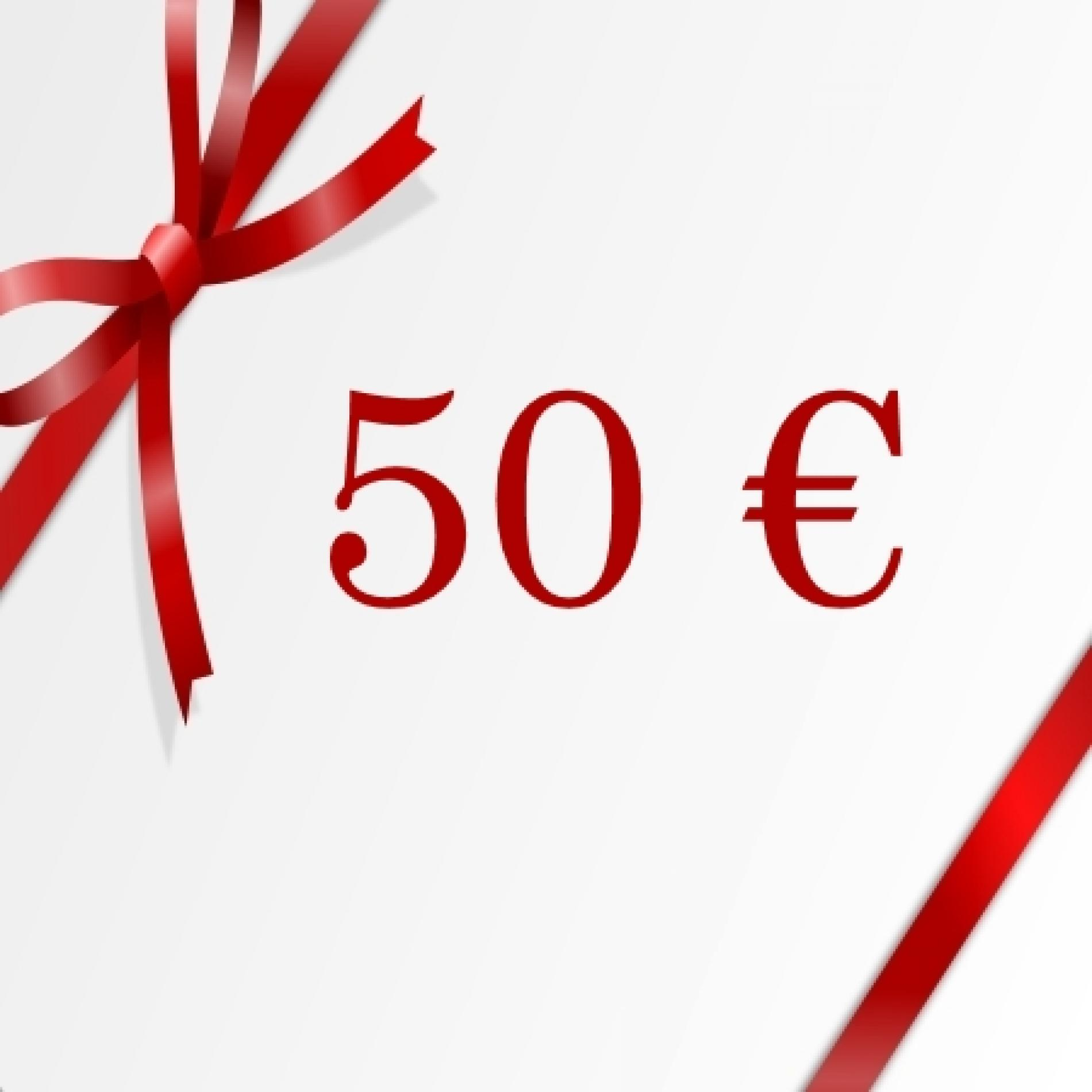 Chèque cadeau de 50€