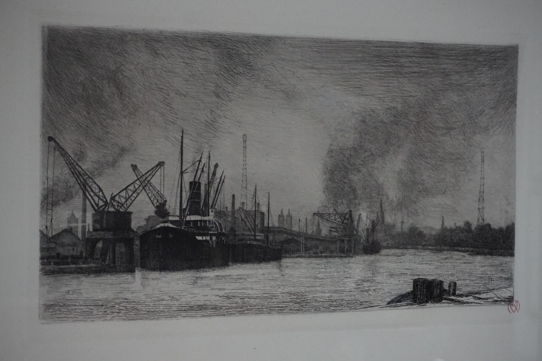 Caen vue par Raphaël MANCHON, en 1931...