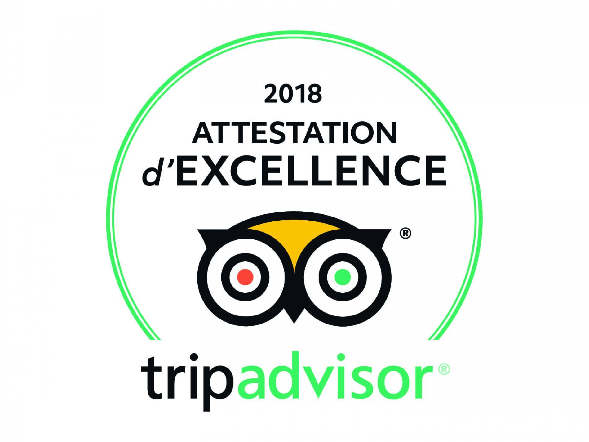 certificat excellence Tripadvisor restaurant Petite Auberge