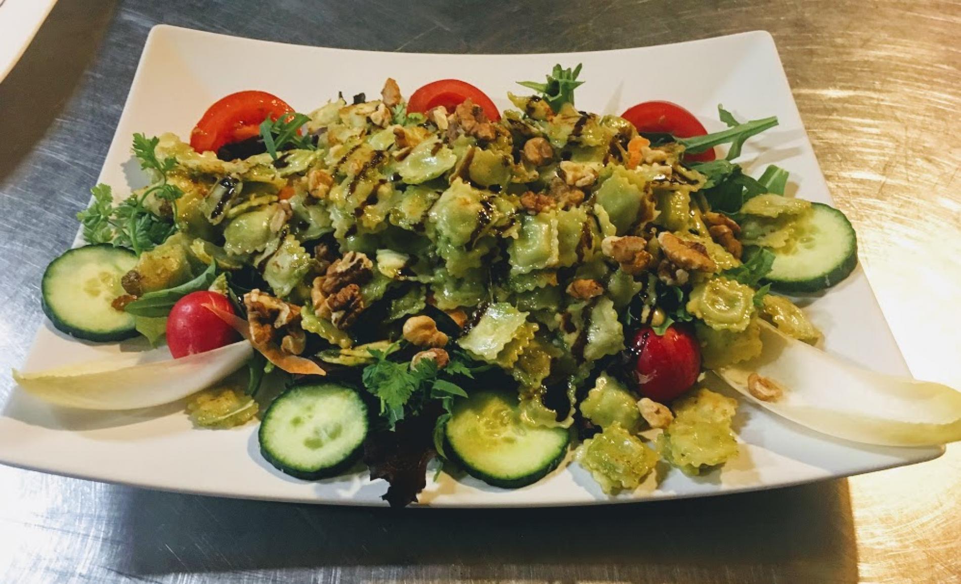 salade de ravioles pôelées