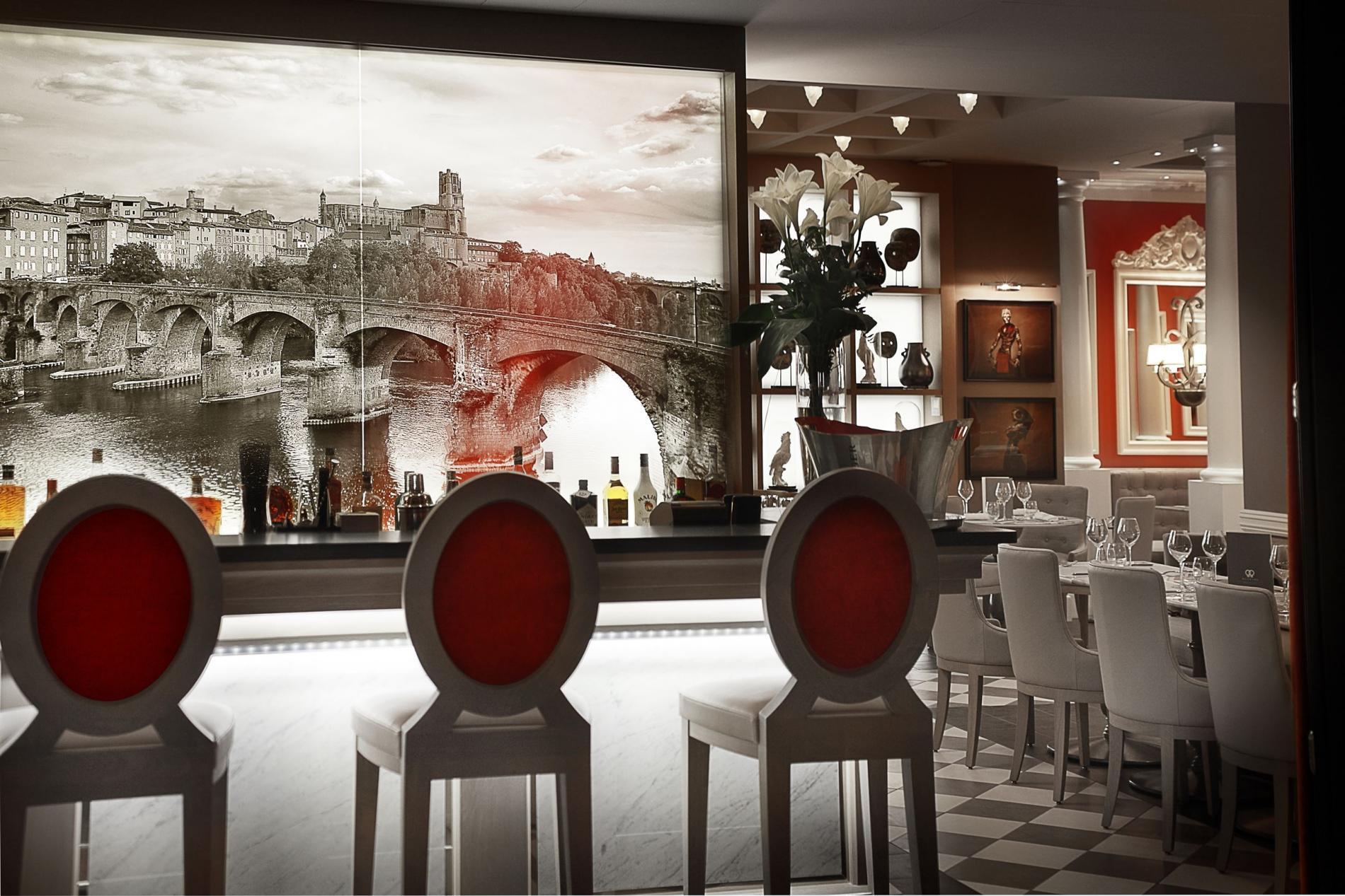 Bar à cocktails convivial