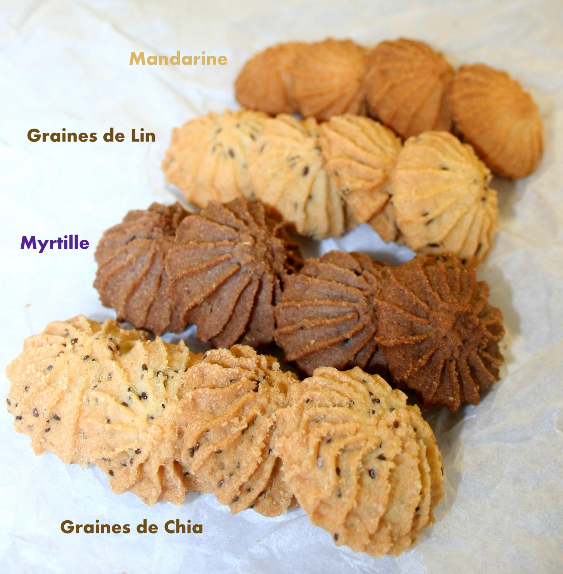Graine de Chia, graine de Lin, Myrtille Sauvage, Mandarine