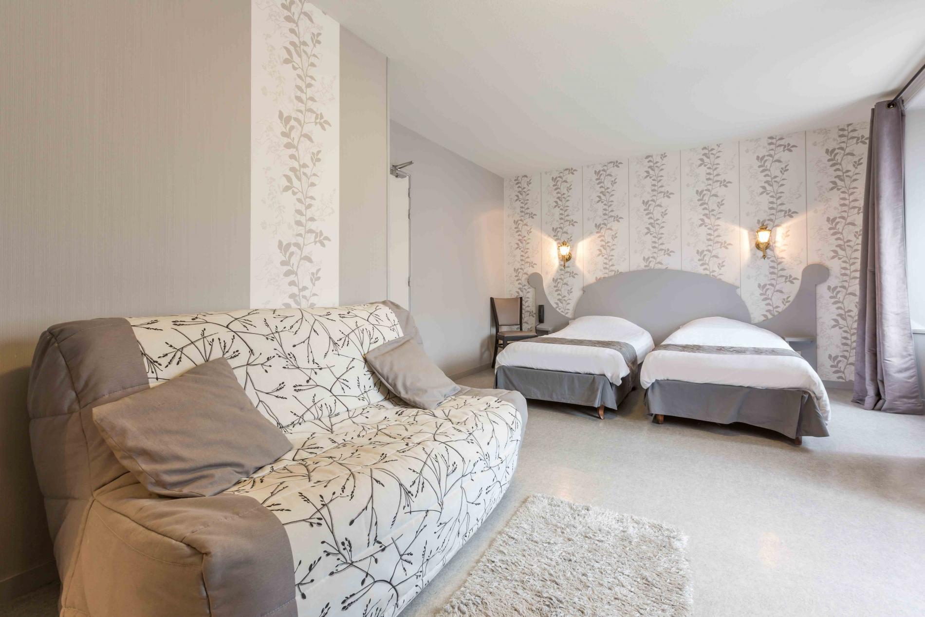 chambre famillale confort sur cour