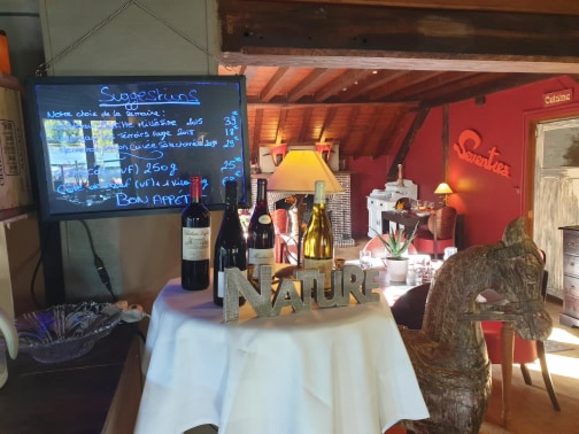 Tableau des suggestions et presentations des vins