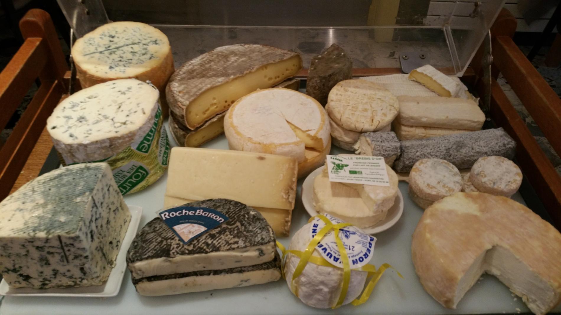 notre chariot de fromages