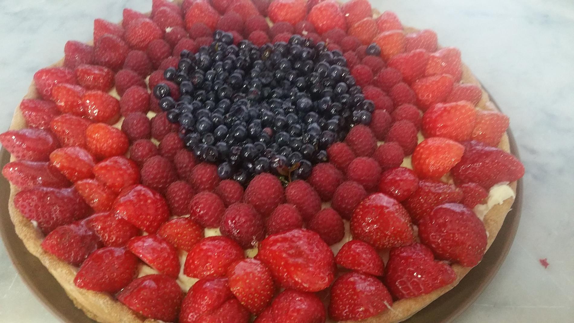 Tarte aux fruits rouges de la région