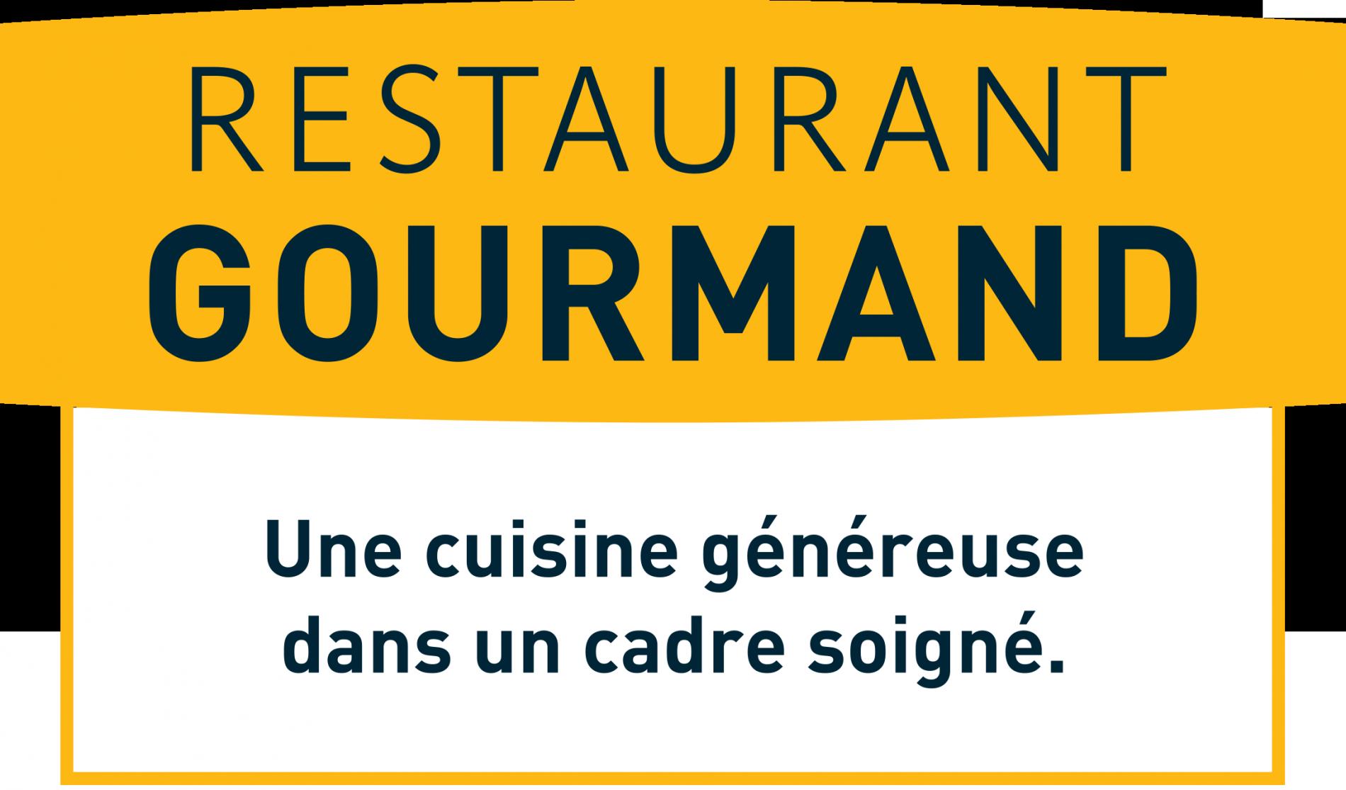 logis hotel le relais saint vincent, logo restaurant gourmand