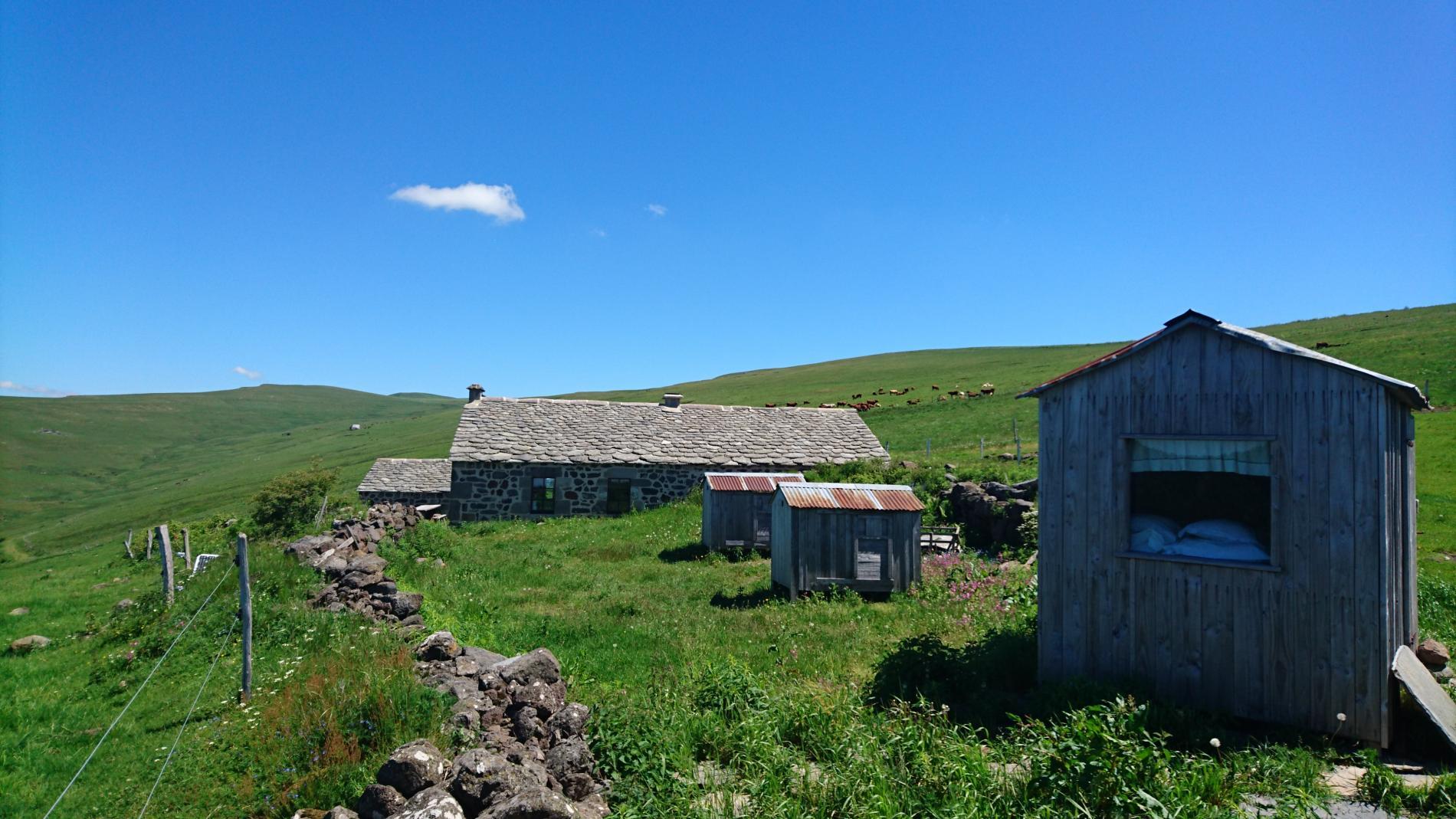 Le buron de Bâne et ses cabanes