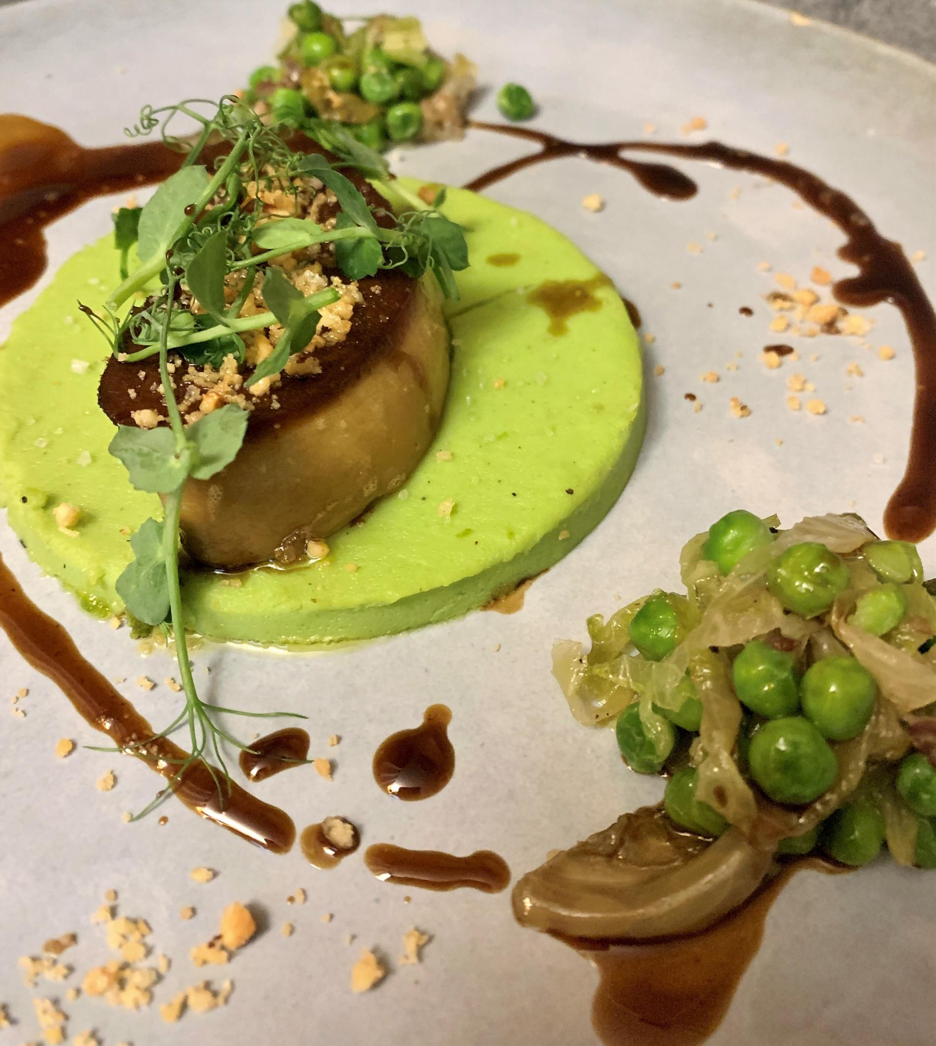 Foie gras poele restaurant le cocon des neiges aux Ménuires