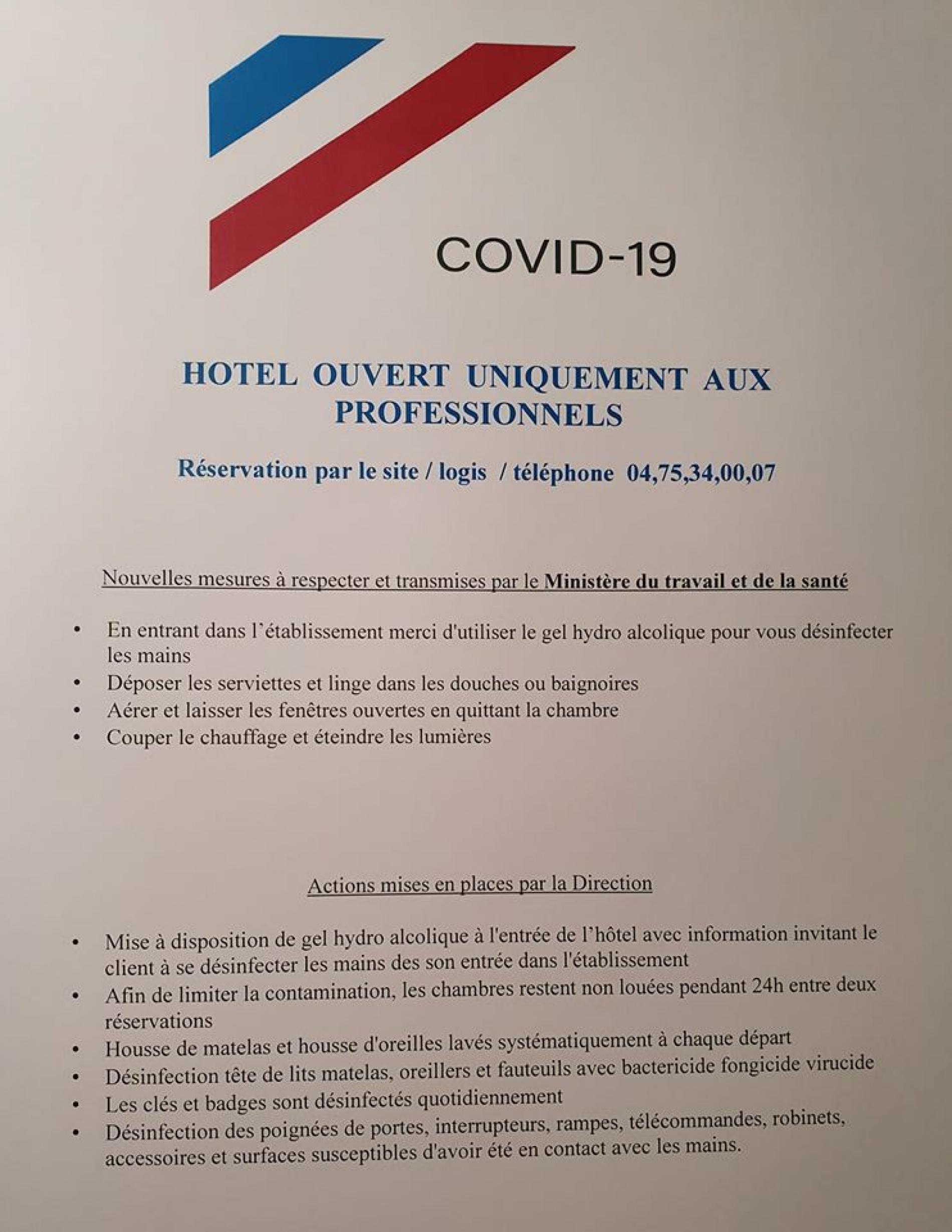 hotel et covid