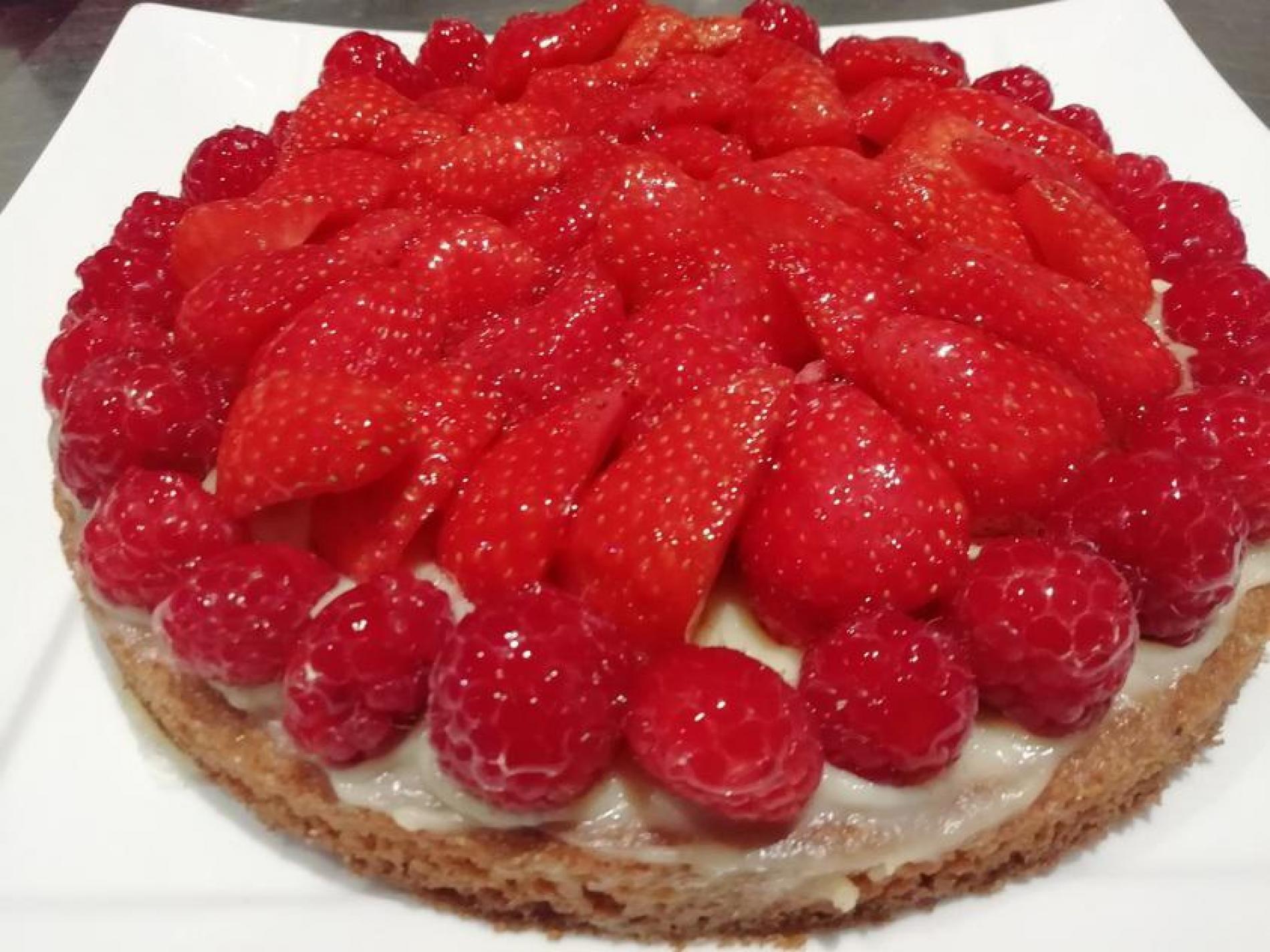 Tarte aux fraises 4 personnes