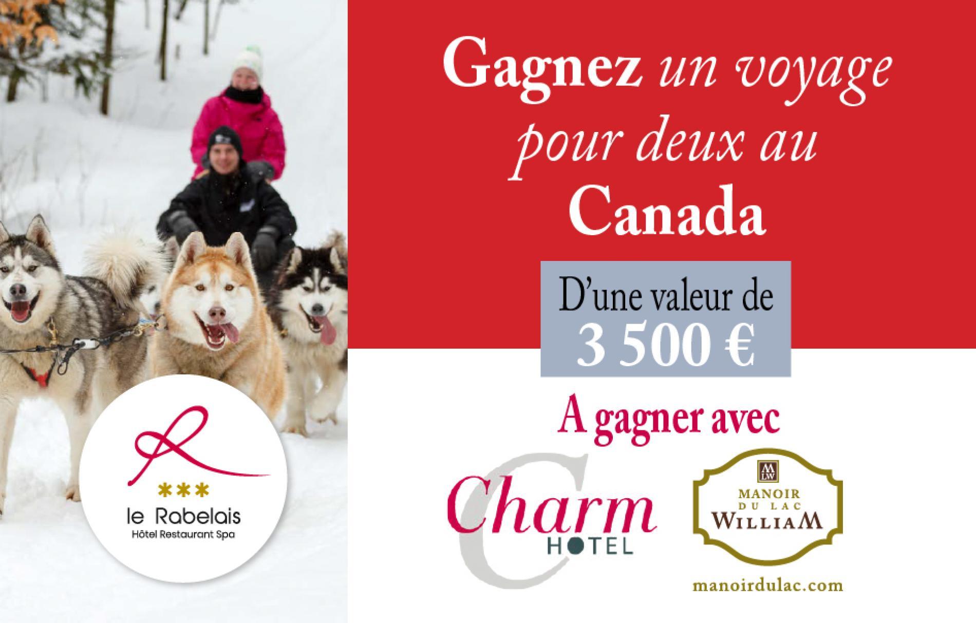 Gagnez un voyage pour deux au Canada, d'une valeur de 3500€ !