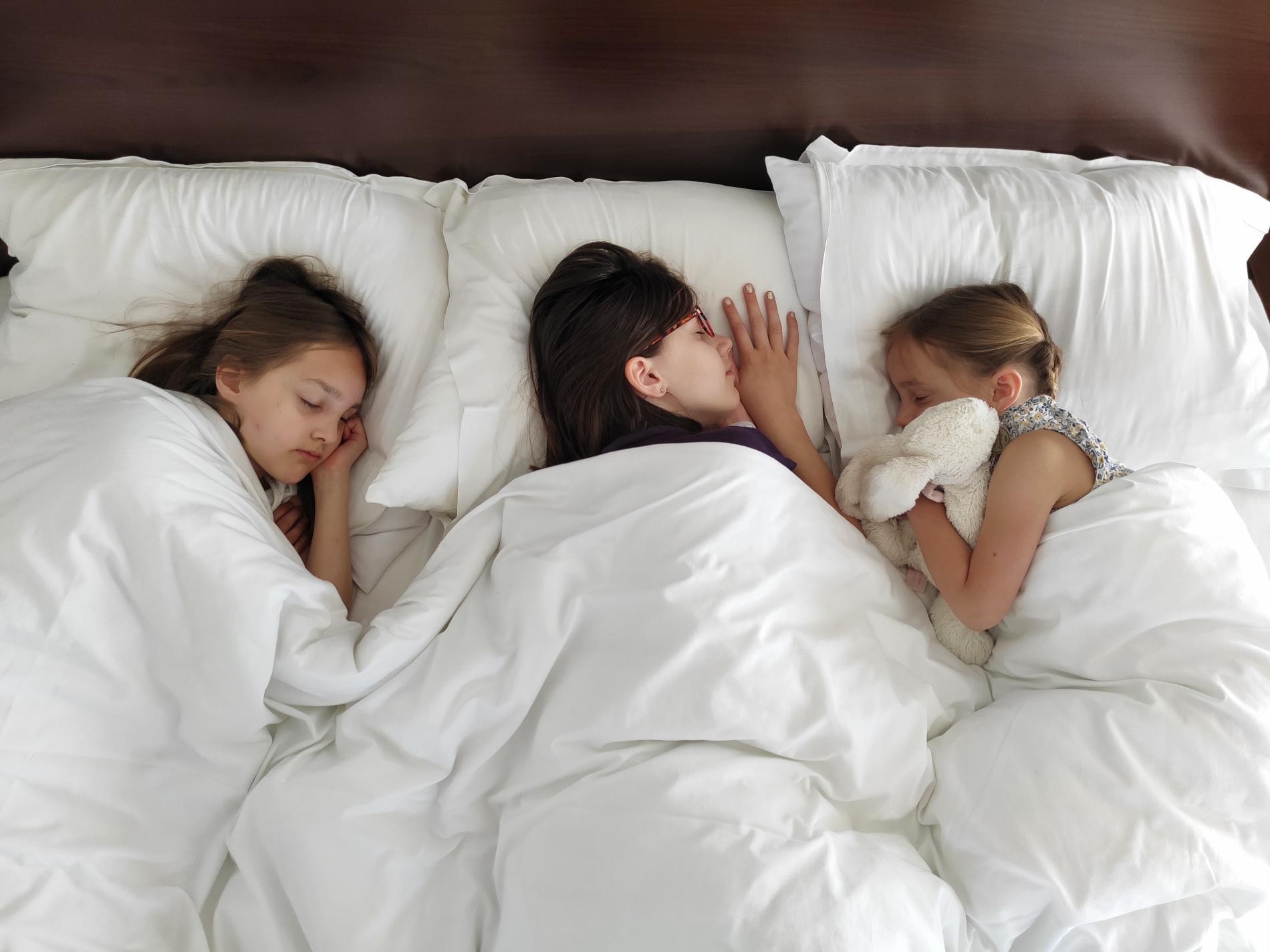Suite familiale...des enfants sages dormant à l'hôtel Le Richelieu