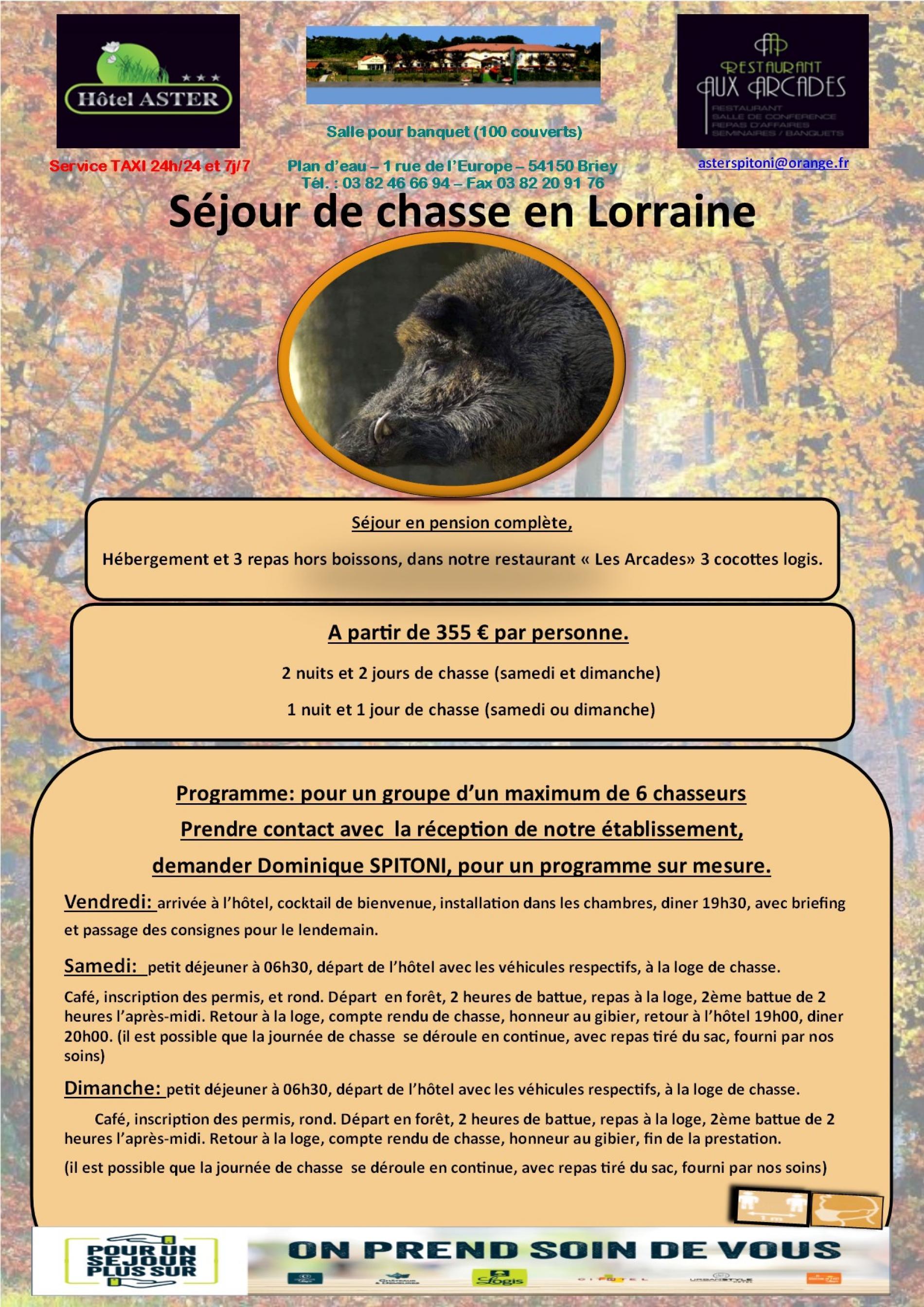 Séjour de chasse en Lorraine