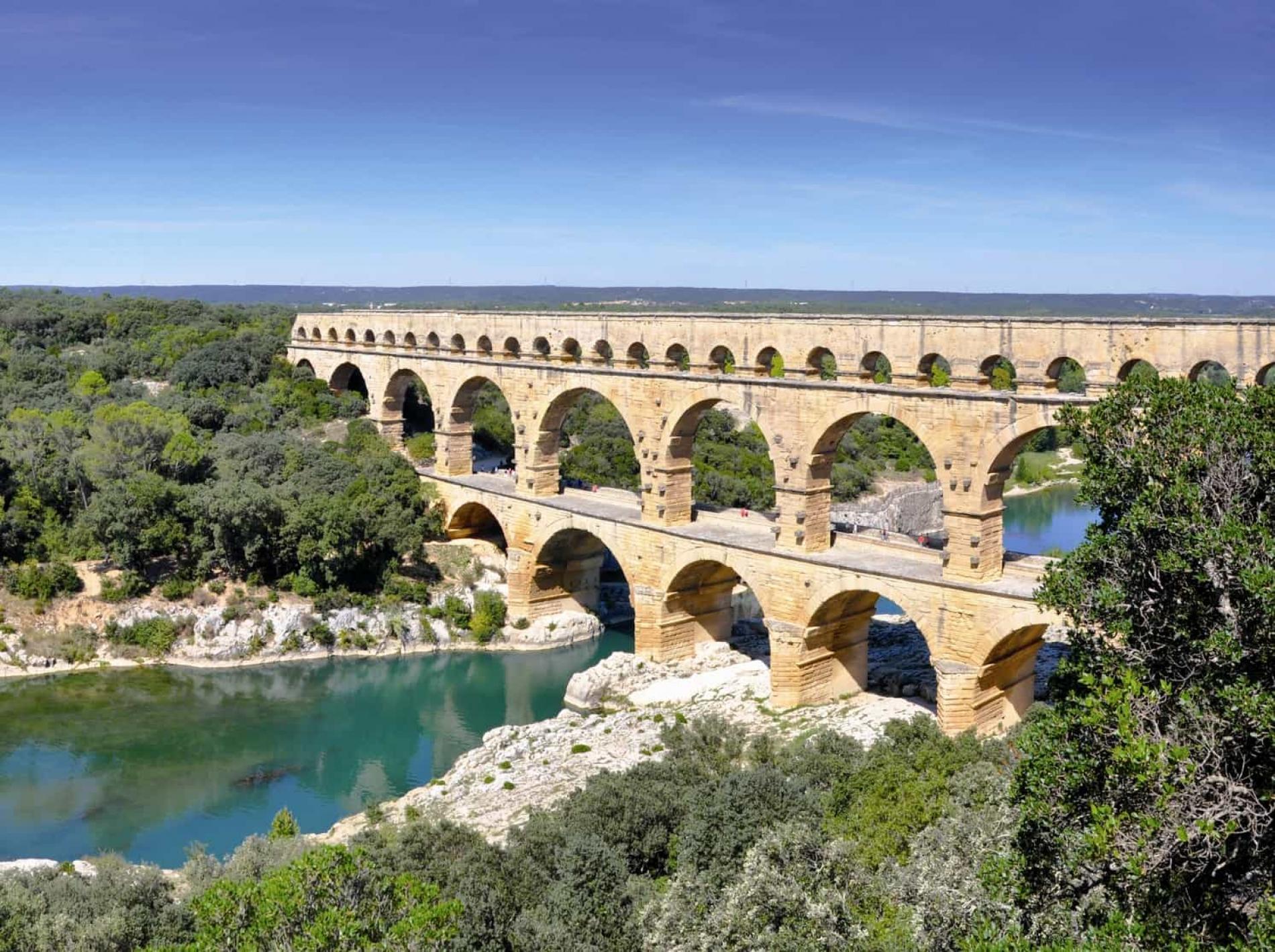 Le Pont du Gard, classé au patrimoine mondial par l'Unesco.