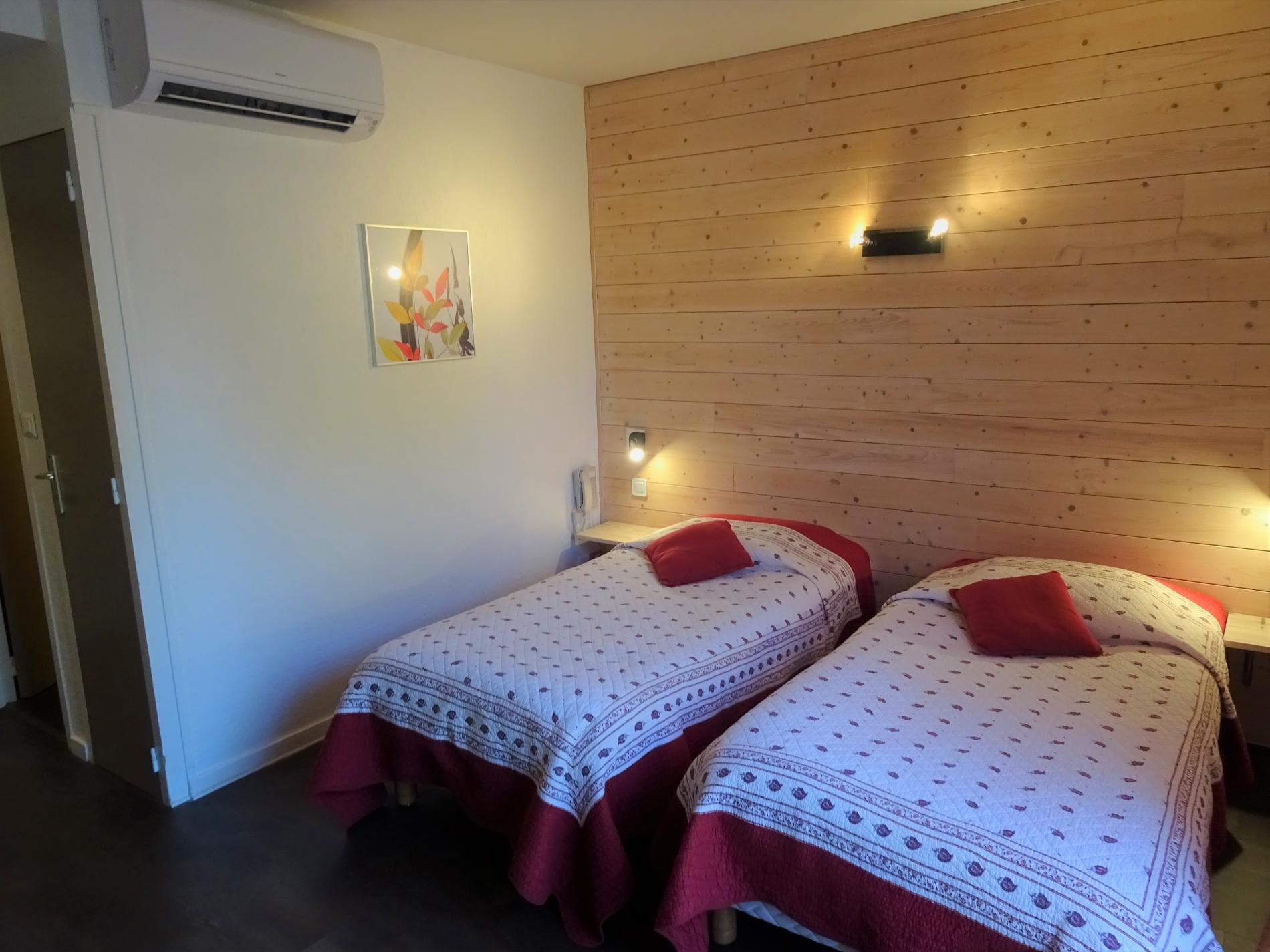 Studio économique avec lit double ou lits jumeaux